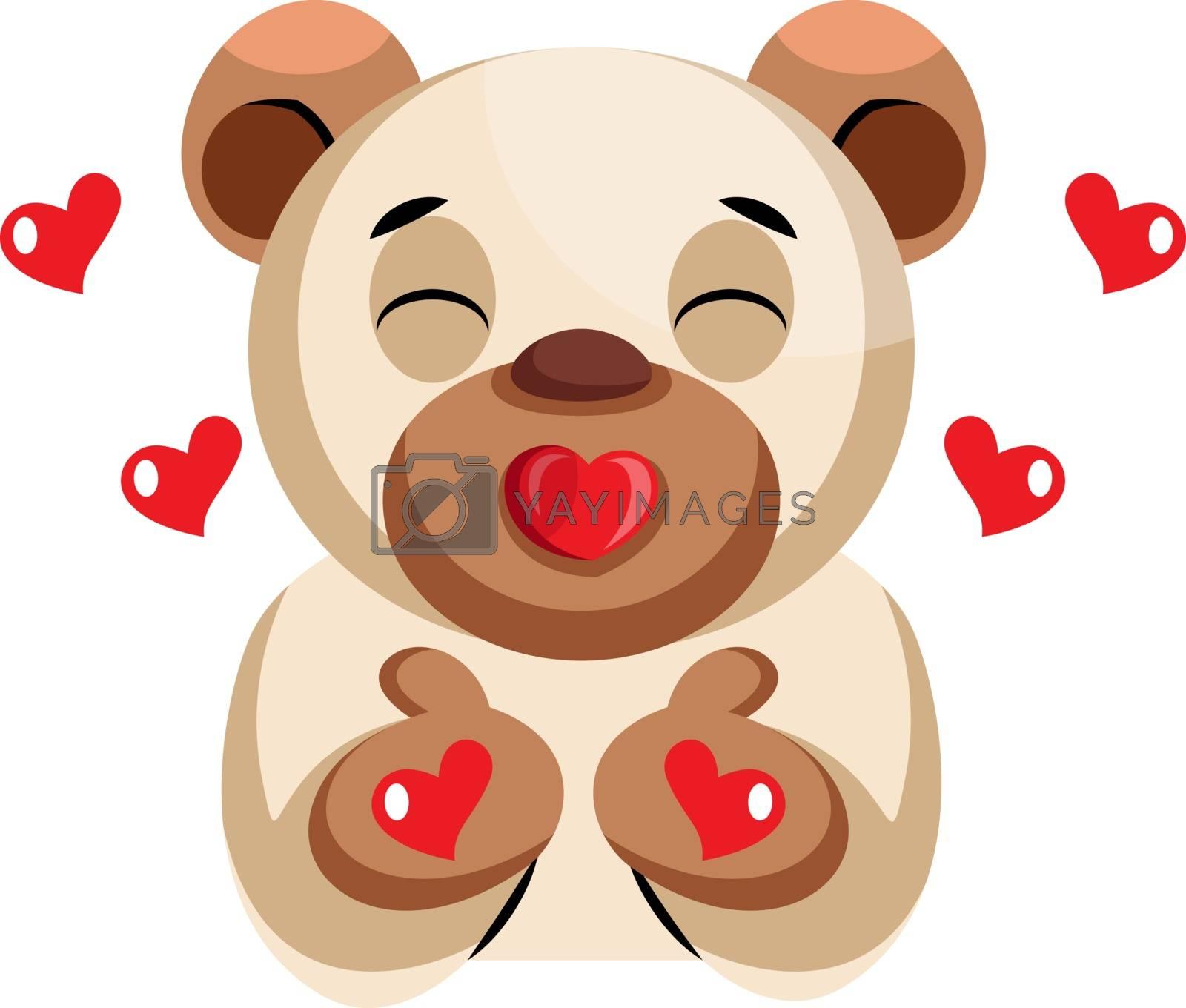 Royalty free image of Cute bear sending kisses illustration vector on white background by Morphart
