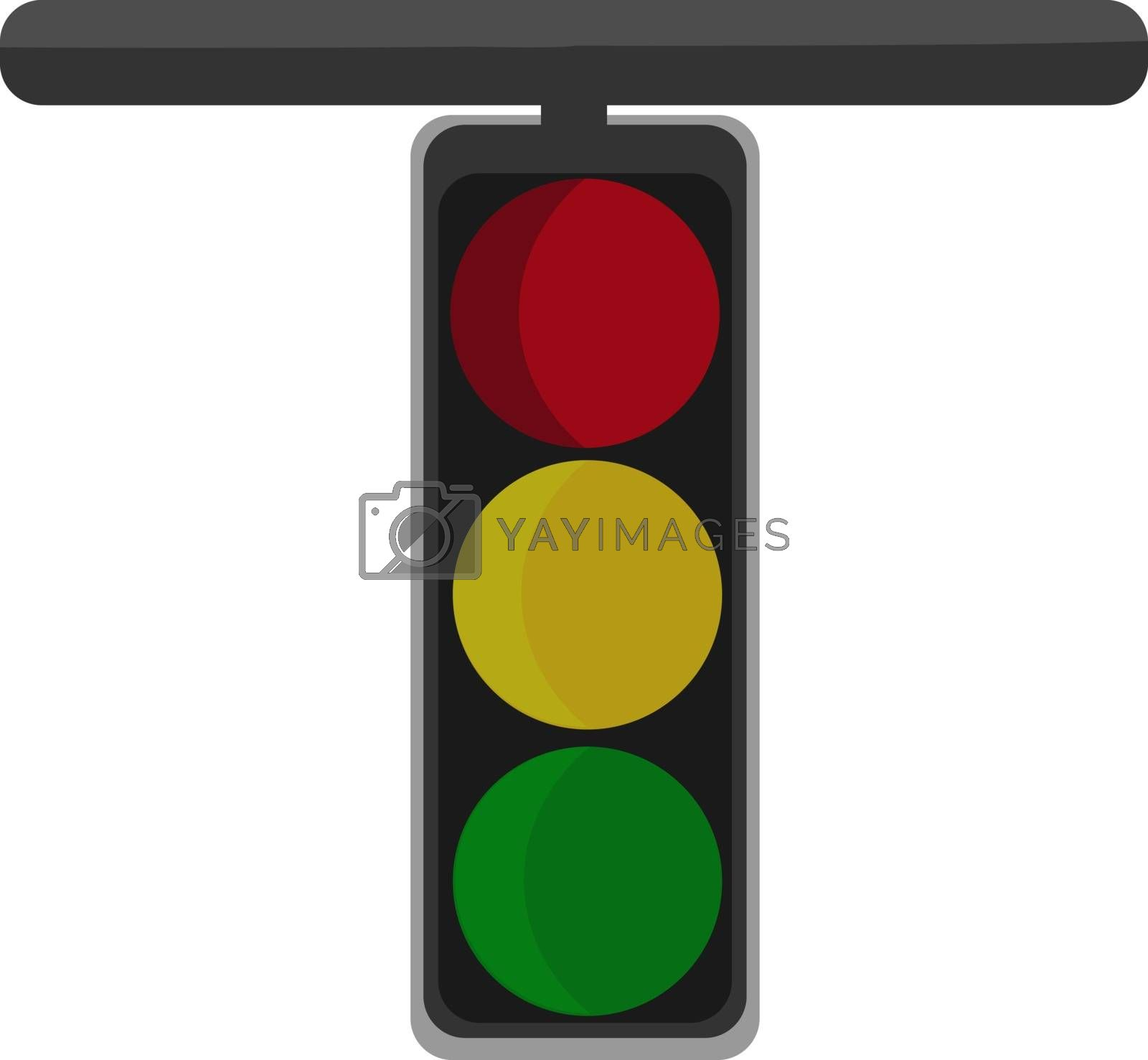 Royalty free image of Clipart of the T-shaped vertical signal board with three separat by Morphart