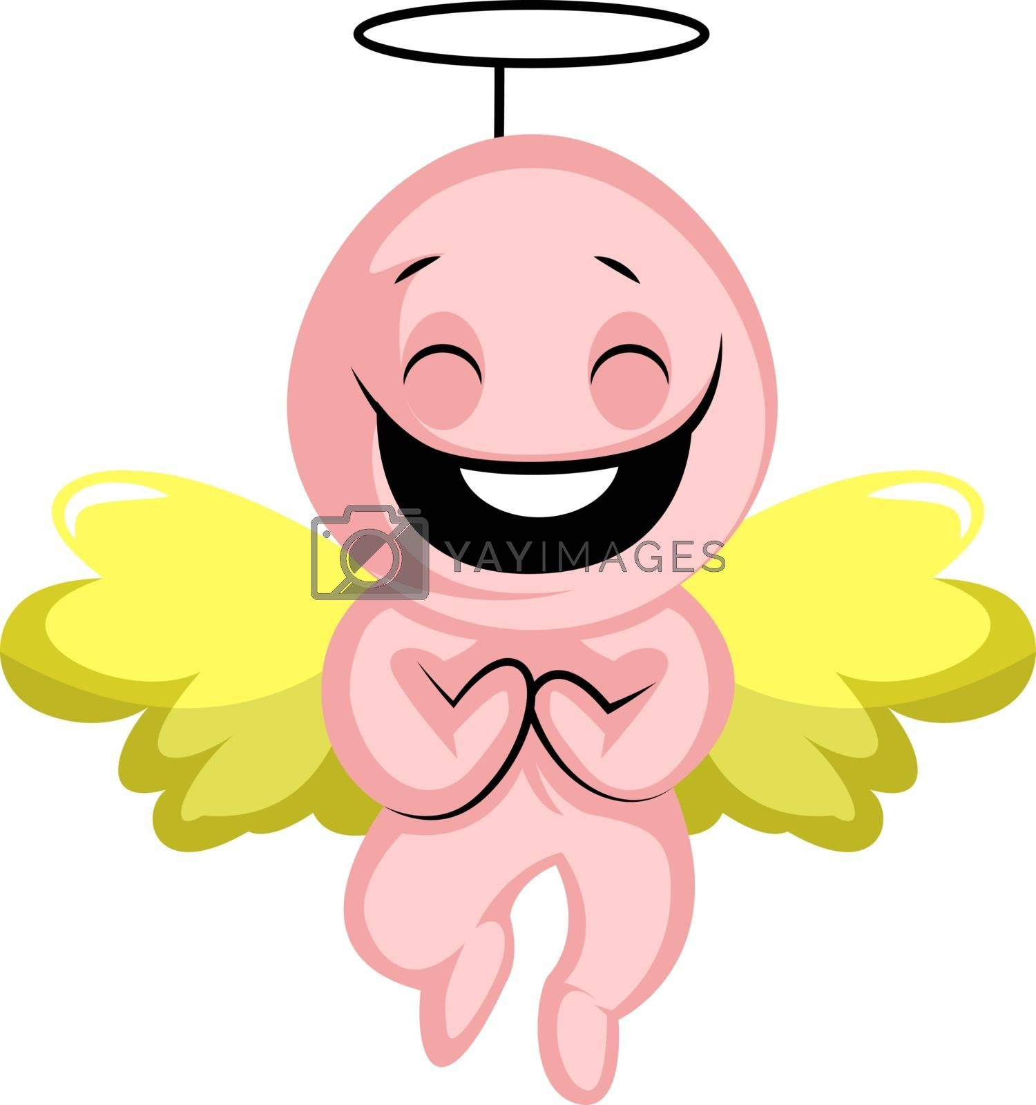 Royalty free image of Cute Valentines day Cupid angel illustration vector on white bac by Morphart