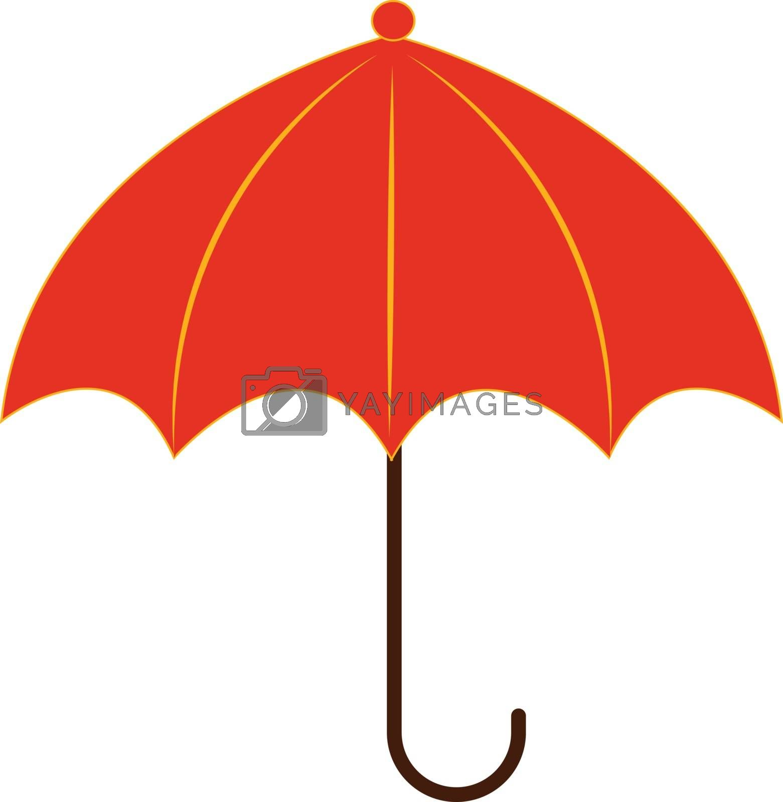 Royalty free image of Clipart of a red-colored compact and light umbrella/Red umbrella by Morphart