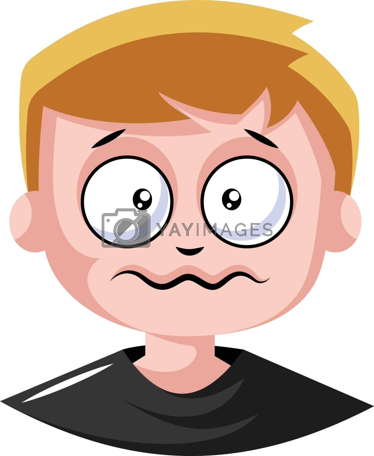 Royalty free image of This young man is anxsious illustration vector on white backgrou by Morphart