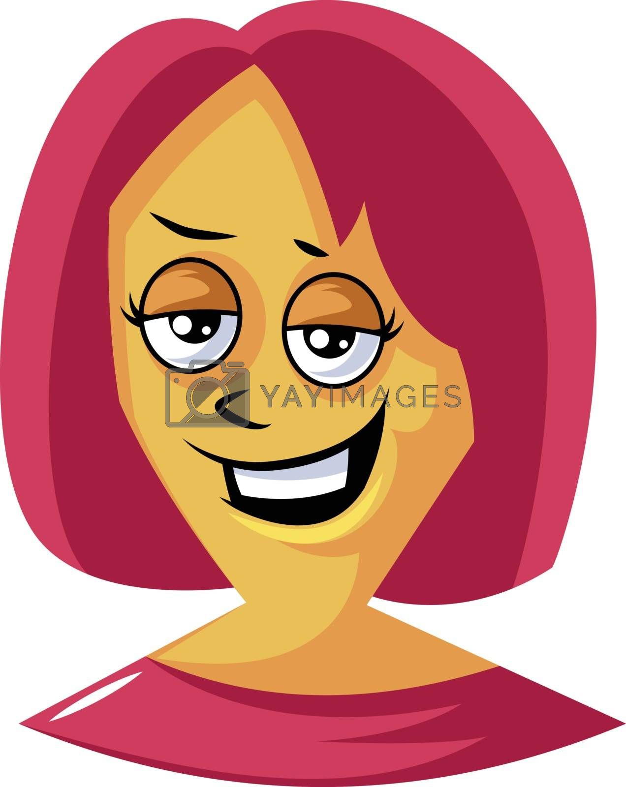 Royalty free image of Confident woman with red hair illustration vector on white backg by Morphart