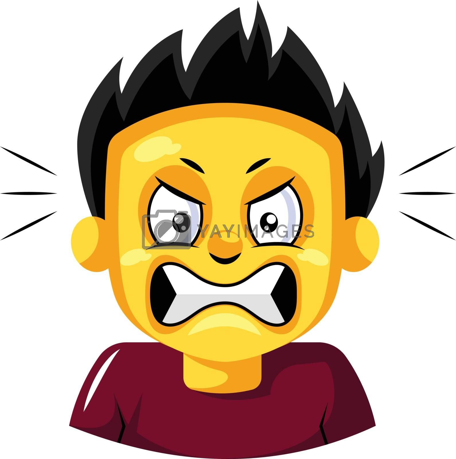 Royalty free image of Angry looking young guy illustration vector on white background by Morphart