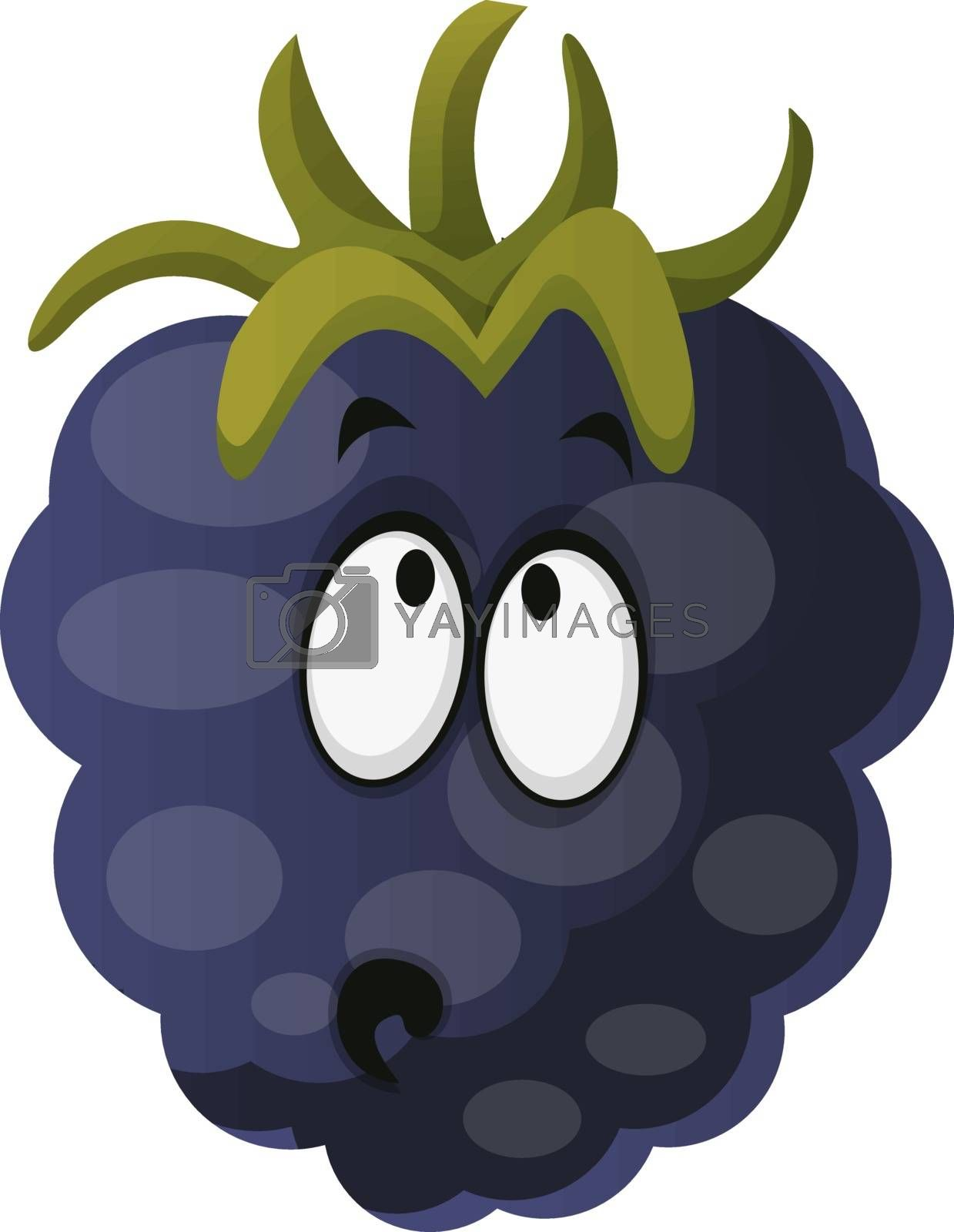 Royalty free image of Amazed mulberry monster illustration vector on white background by Morphart