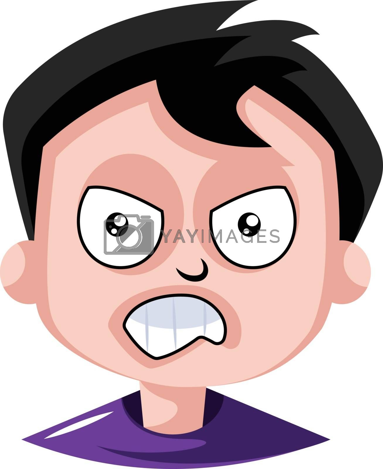 Royalty free image of Man is very frustrated with this situation illustration vector o by Morphart