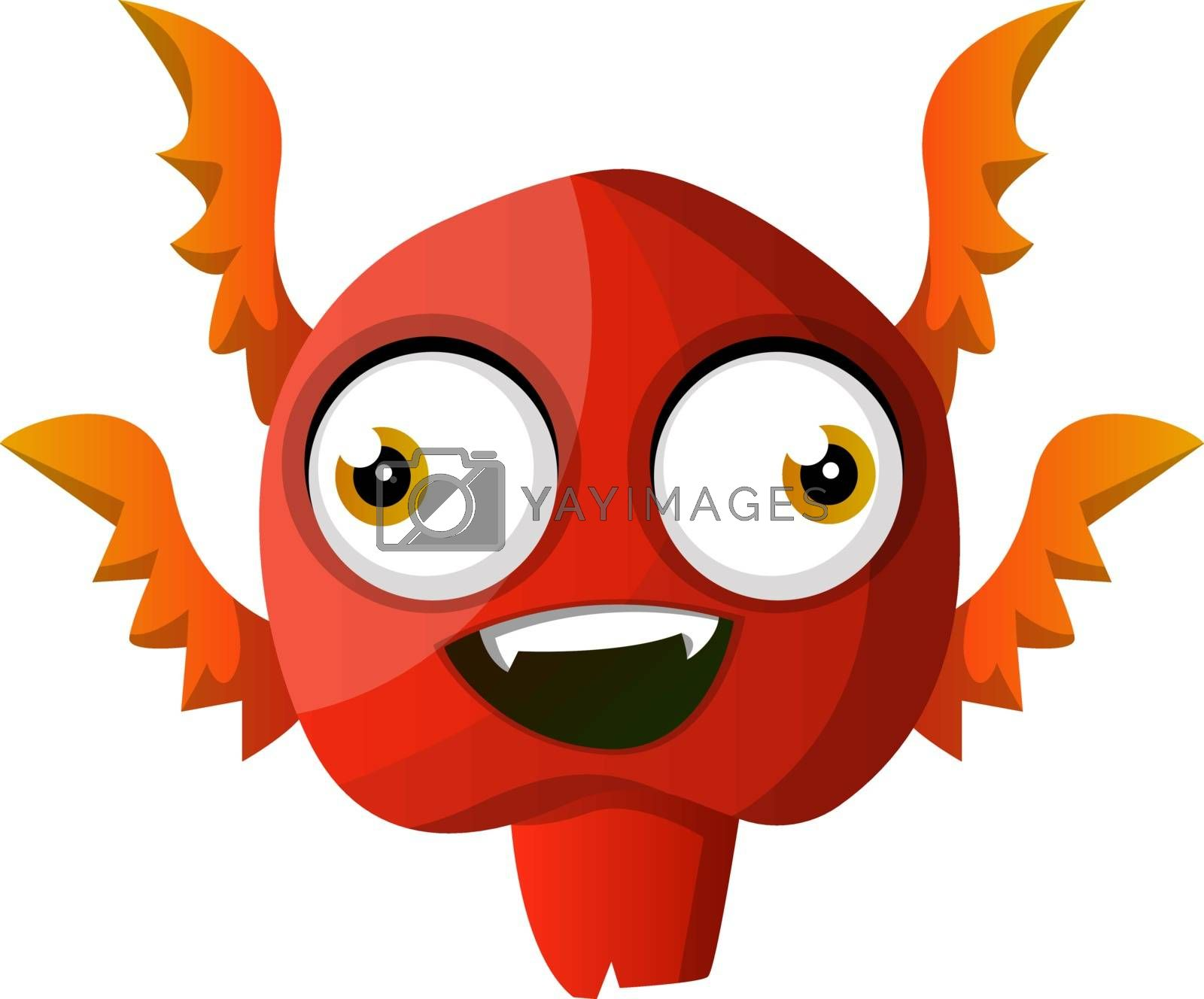 Royalty free image of Red smiling monster illustration vector on white background by Morphart