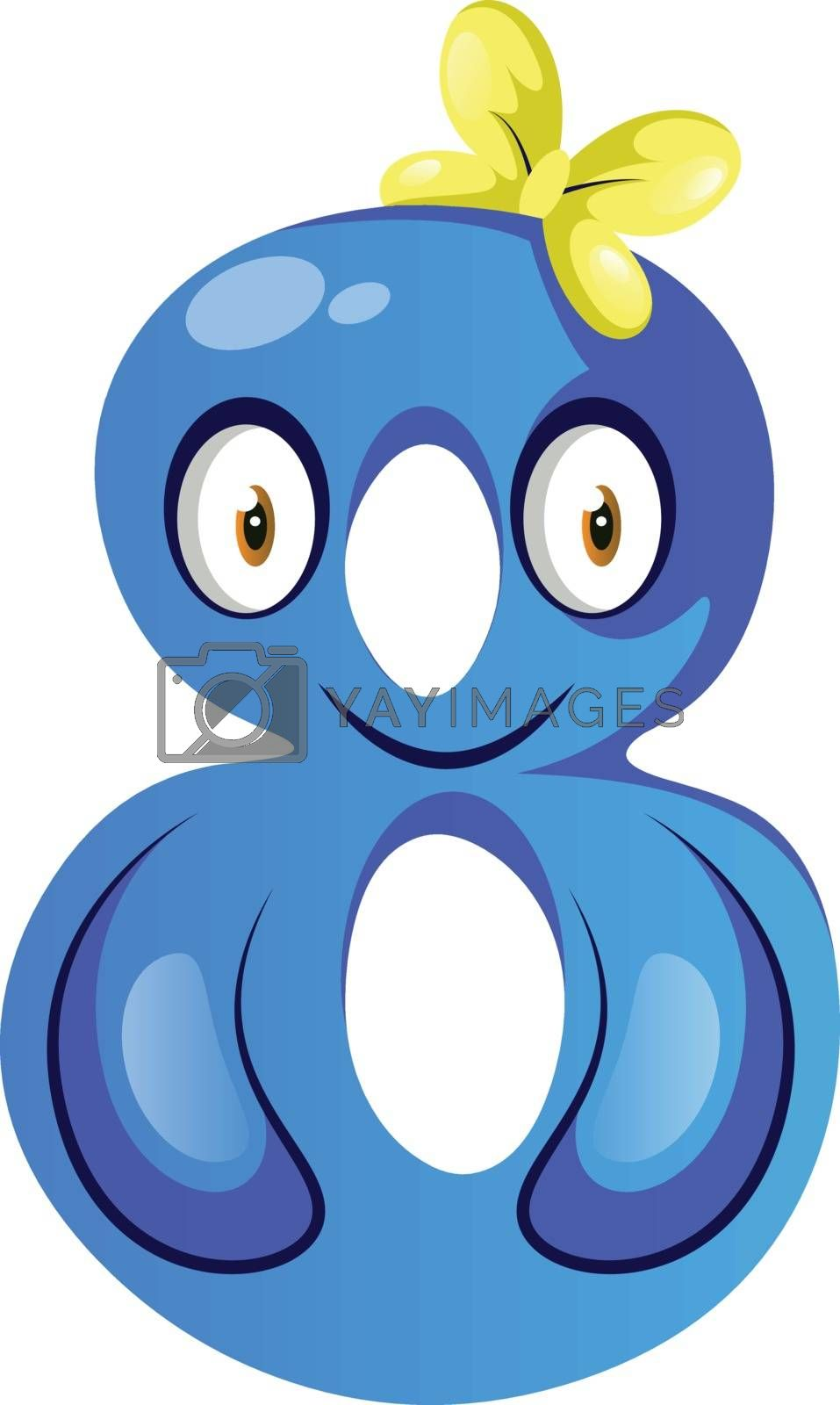 Royalty free image of Blue monster in number eight shape illustration vector on white  by Morphart