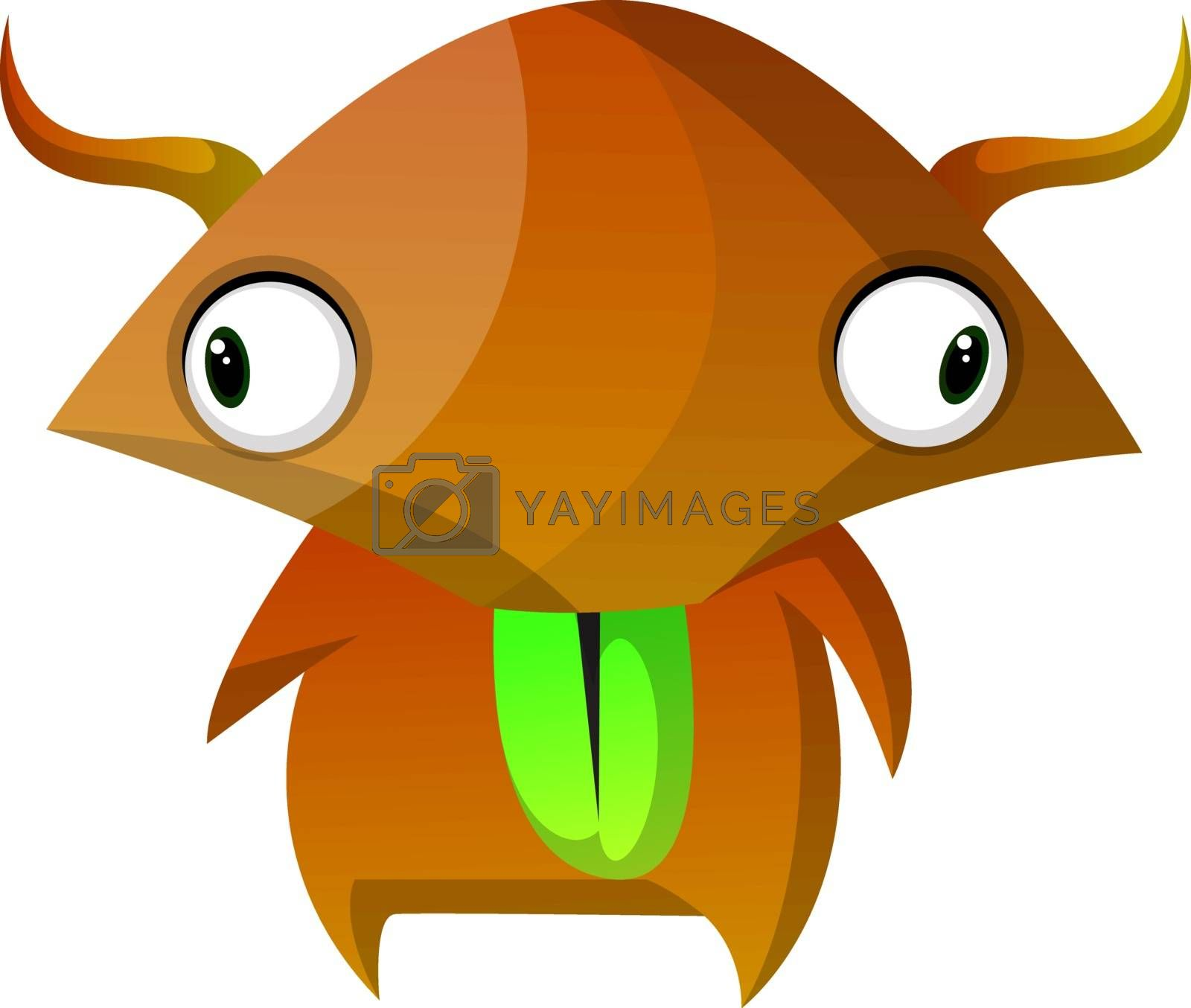 Royalty free image of Brown monster with wide eyes illustration vector on white backgr by Morphart