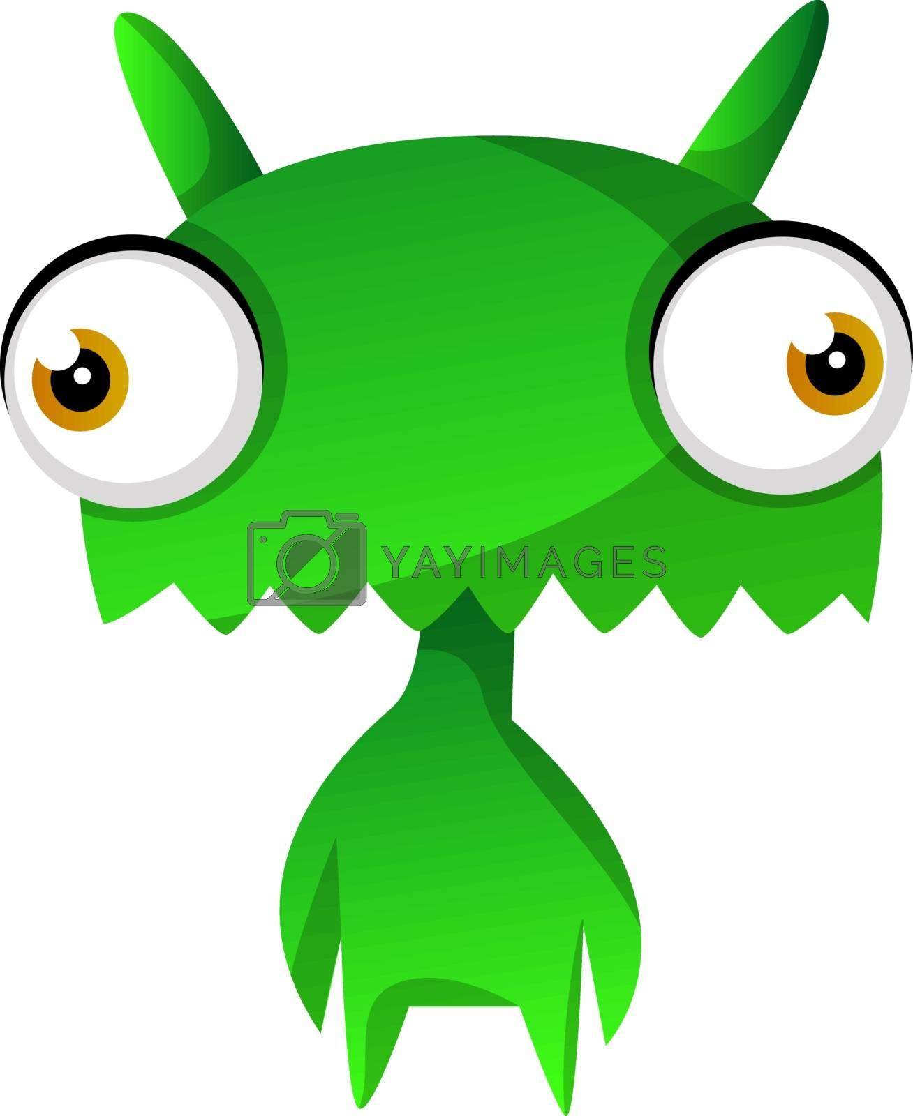 Royalty free image of Green cute monster illustration vector on white backgroundPrint by Morphart