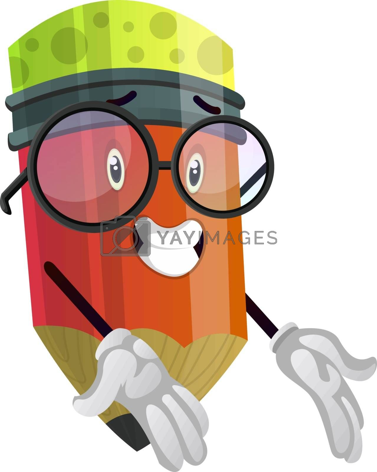 Royalty free image of Pencil looks confused illustration vector on white background by Morphart