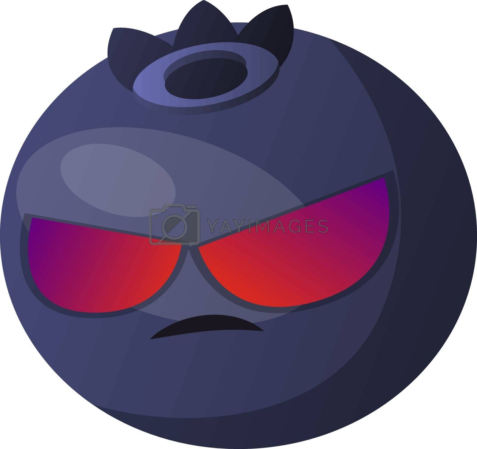 Royalty free image of Angry blueberry illustration vector on white background by Morphart
