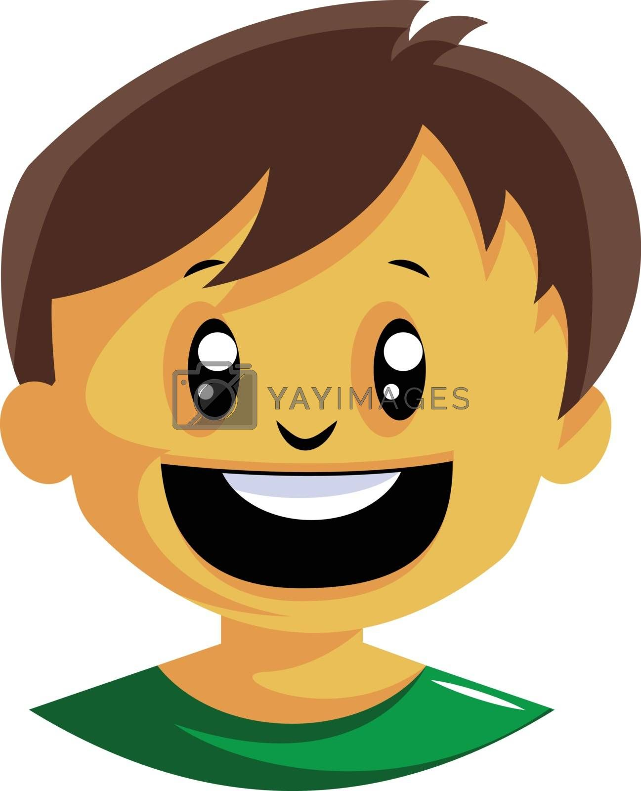 Royalty free image of Very happy little boy illustration vector on white background by Morphart