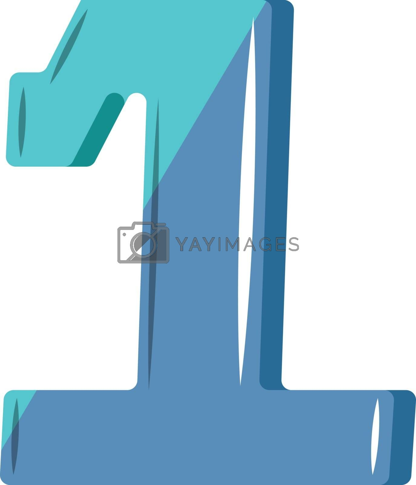 Royalty free image of Blue number one illustration vector on white background by Morphart