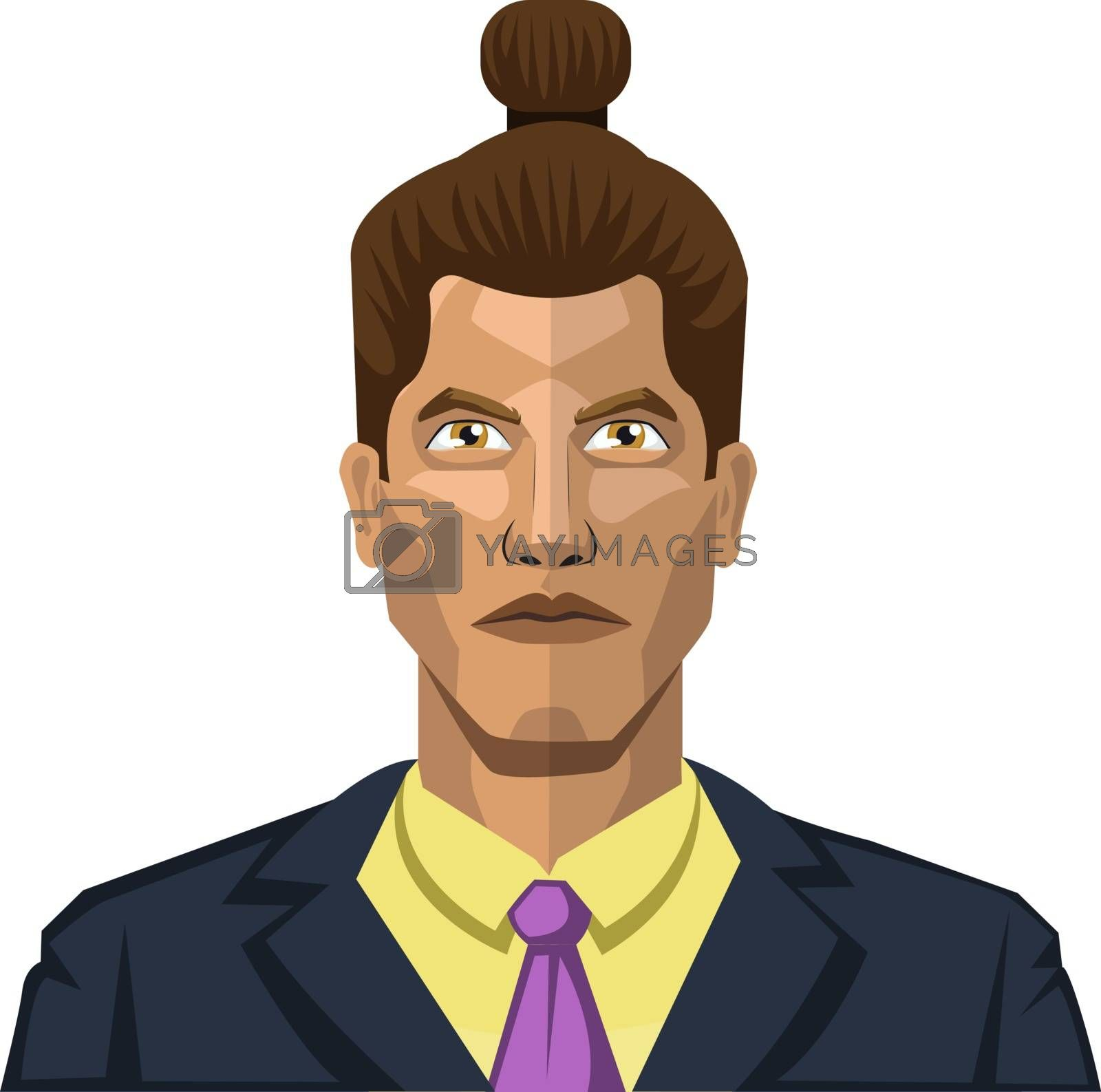 Royalty free image of Guy with a twisted hair illustration vector on white background by Morphart