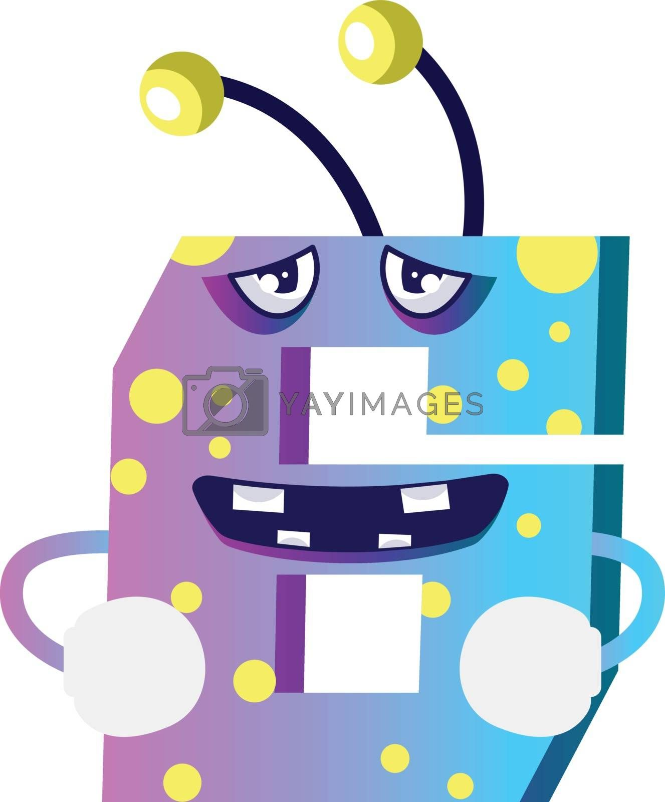 Royalty free image of Number six monster drunk illustration vector on white background by Morphart