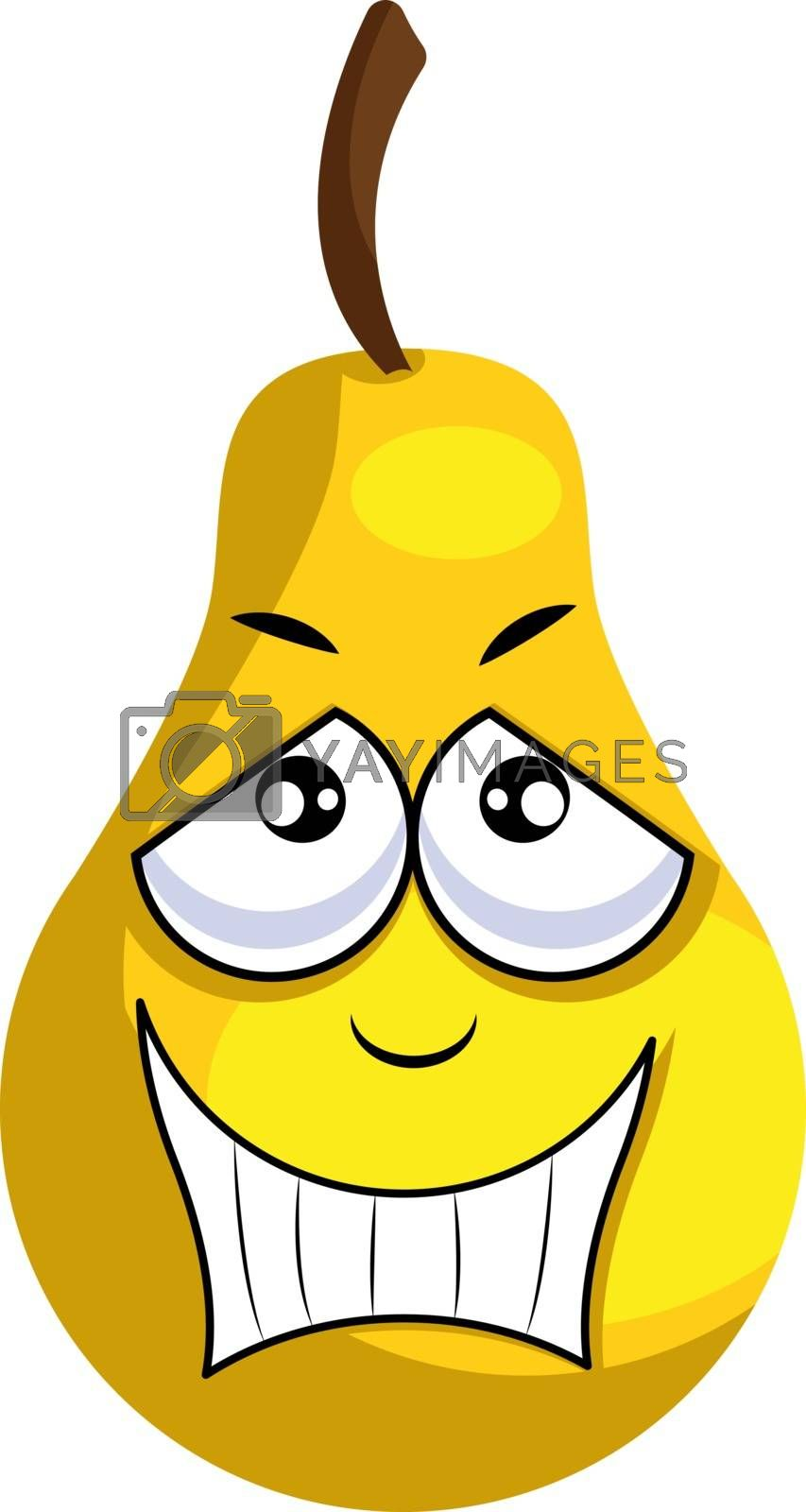 Royalty free image of Yellow apple smiling illustration vector on white background by Morphart