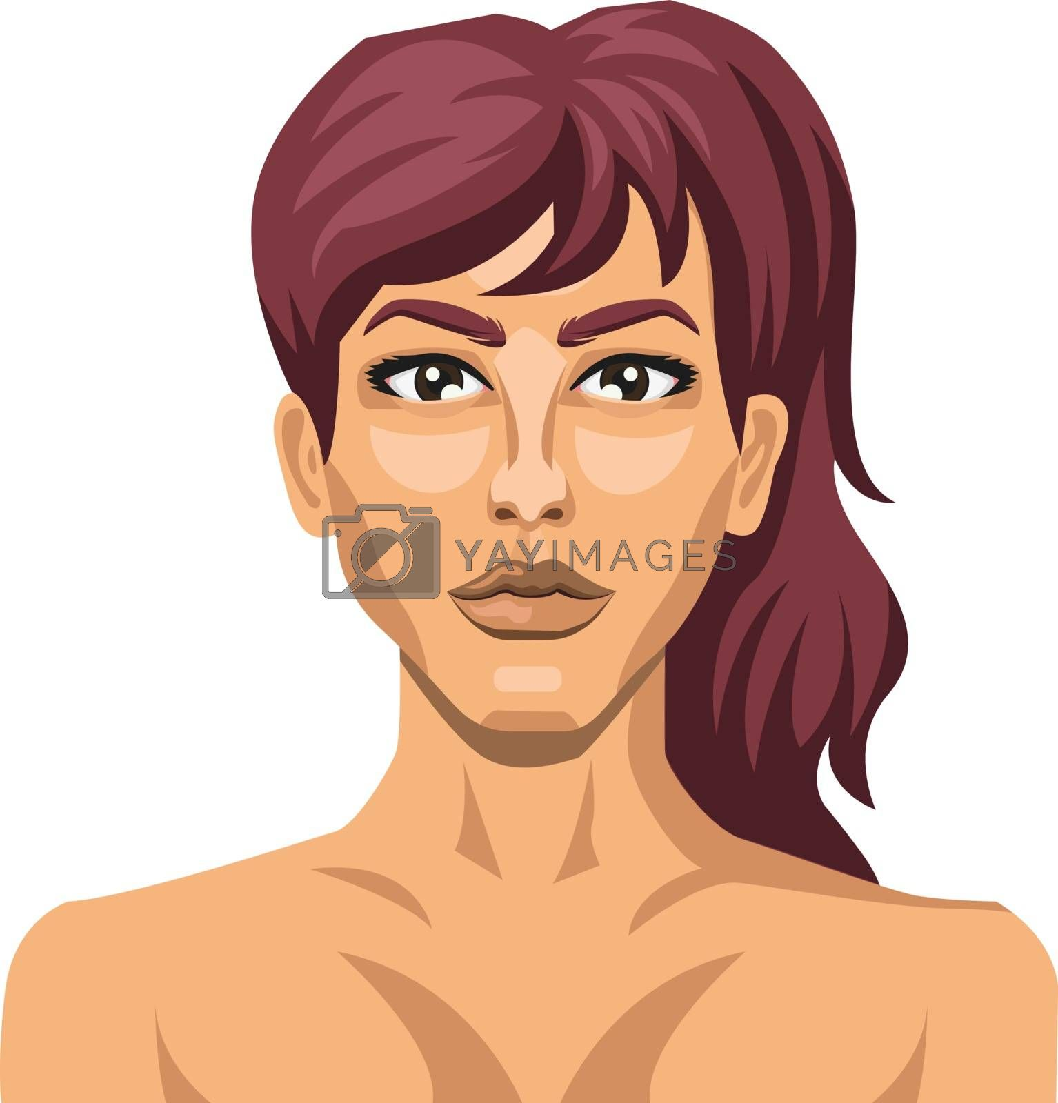 Royalty free image of Sexy brunette illustration vector on white background by Morphart