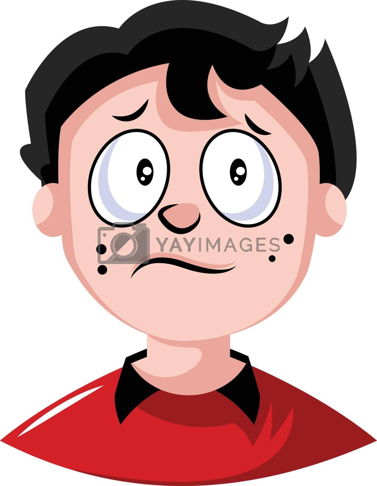 Royalty free image of Little guy feeling very blue illustration vector on white backgr by Morphart