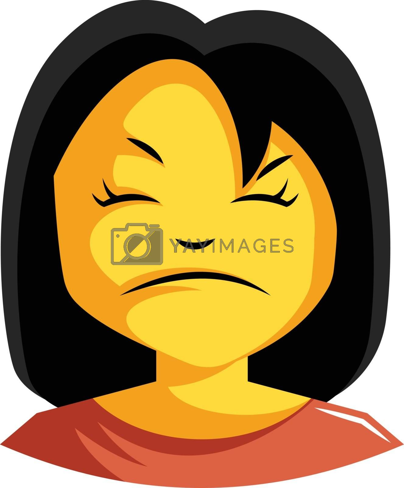 Royalty free image of Woman in red top is looking bit cranky illustration vector on wh by Morphart