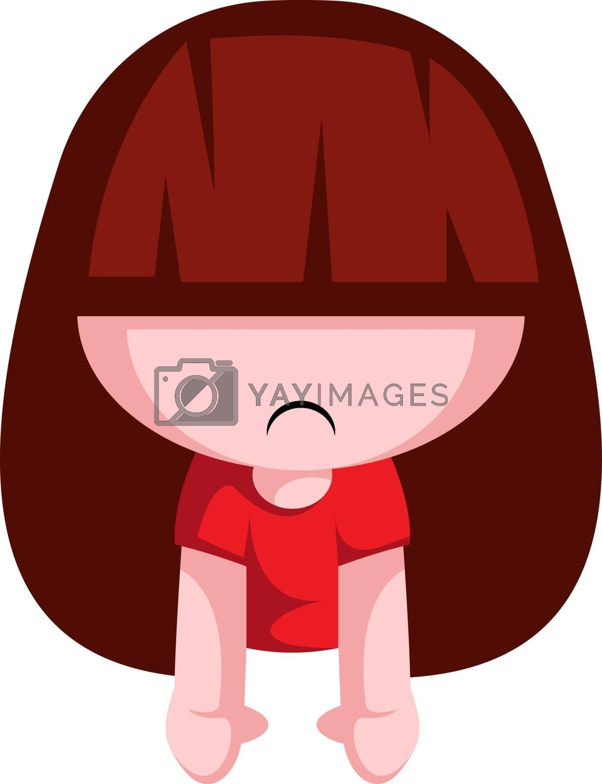 Royalty free image of Girl is not amused with Valentine's day illustration vector on w by Morphart