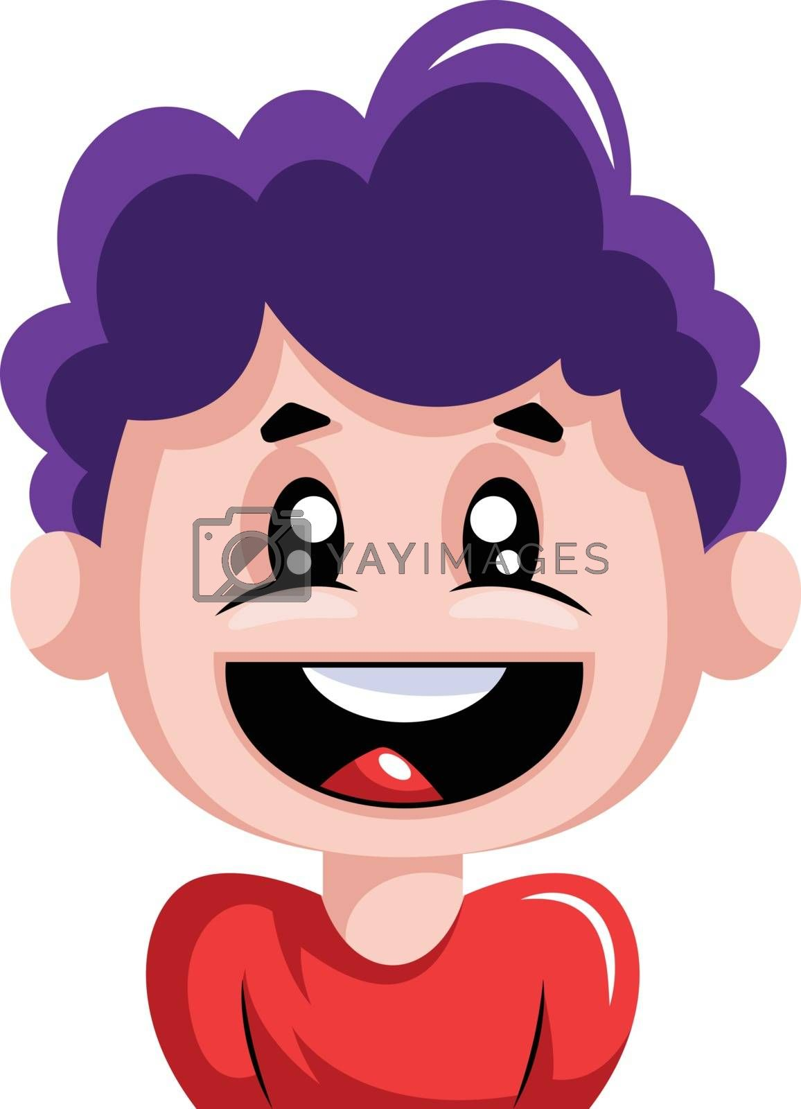 Royalty free image of Young boy is very excited illustration vector on white backgroun by Morphart