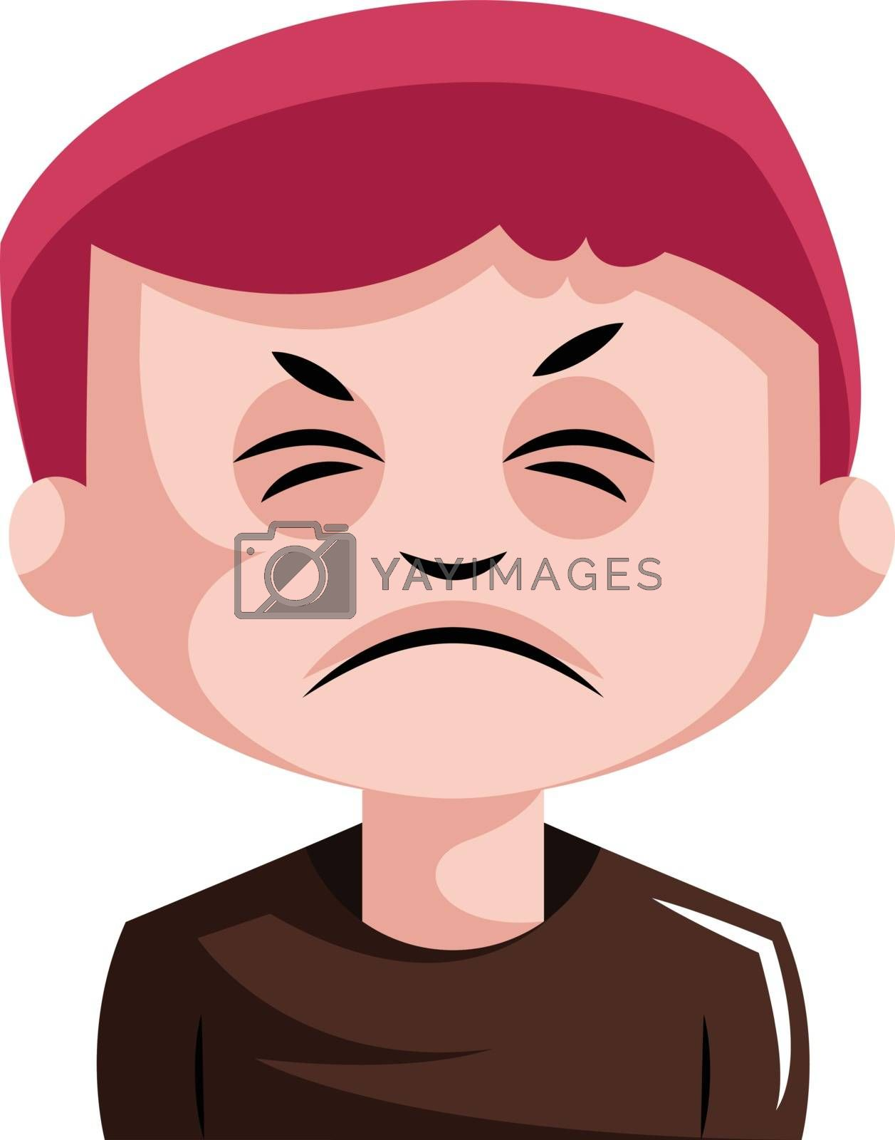 Royalty free image of Man with red hair is very irritated illustration vector on white by Morphart
