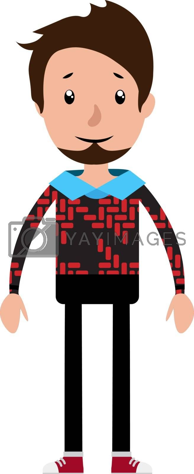 Royalty free image of A casual cool looking young man illustration vector on white bac by Morphart