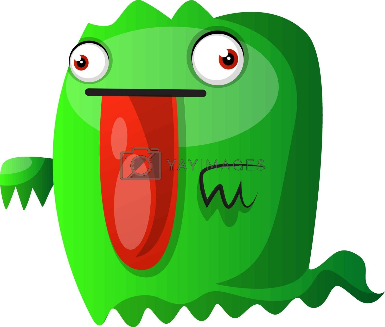 Royalty free image of Green monster with big red tongue illustration vector on white b by Morphart