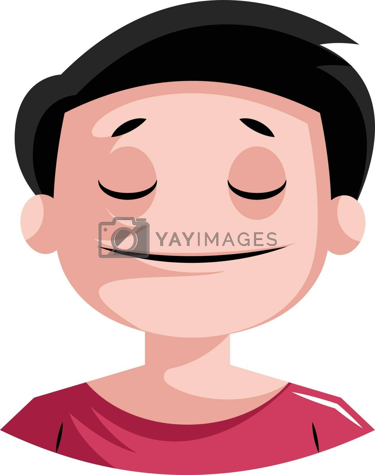 Royalty free image of Very peaceful looking man illustration vector on white backgroun by Morphart