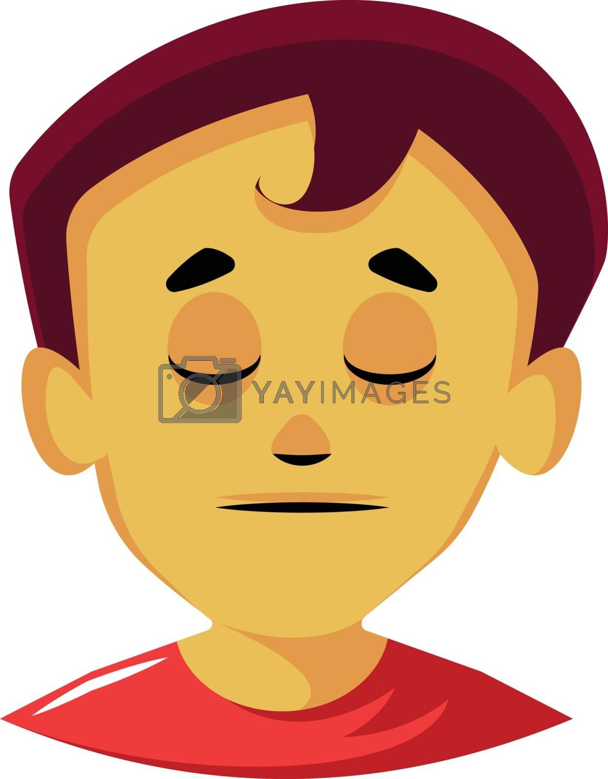 Royalty free image of Calm lookong man with red hair illustration vector on white back by Morphart