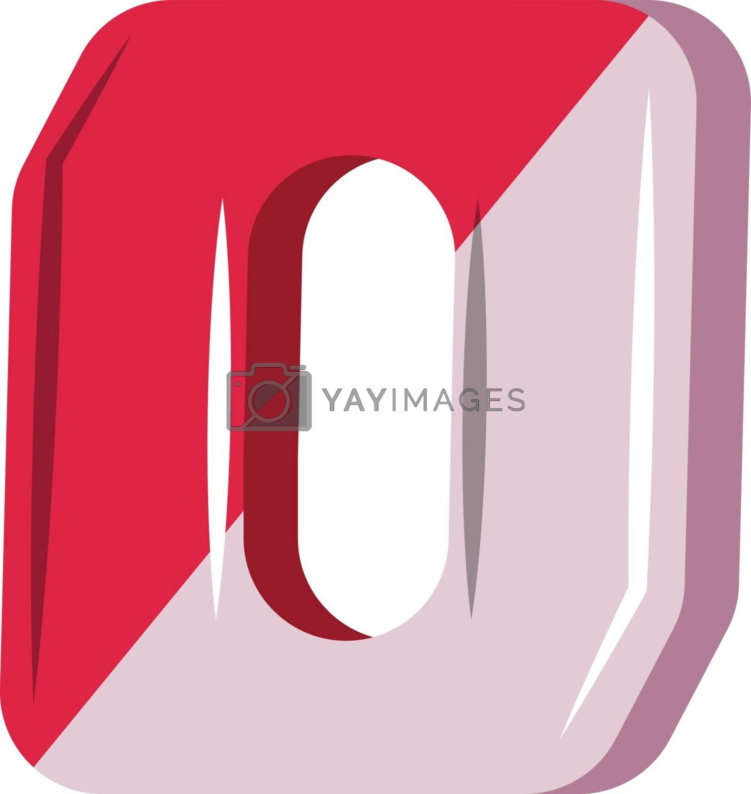 Royalty free image of Red and purple number zero illustration vector on white backgrou by Morphart