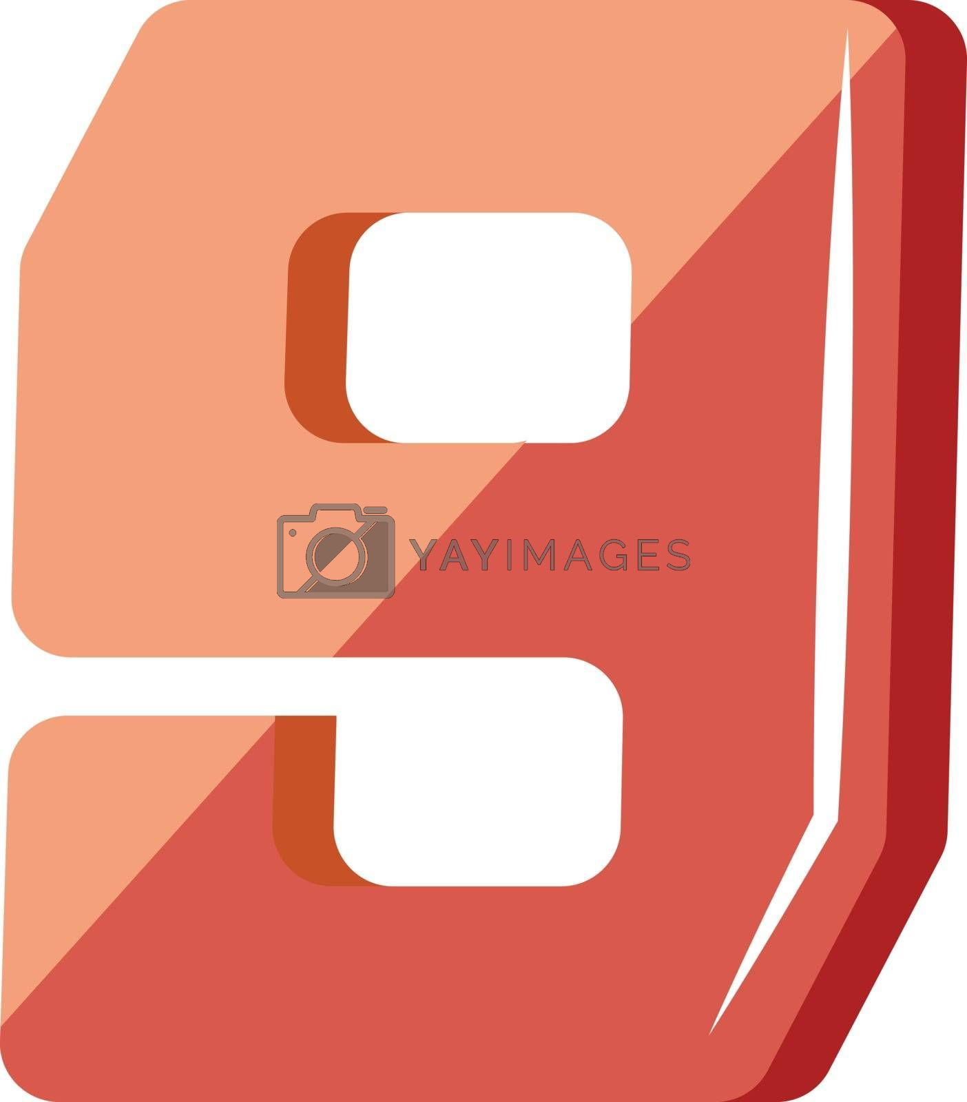 Royalty free image of Red number nine illustration vector on white background by Morphart