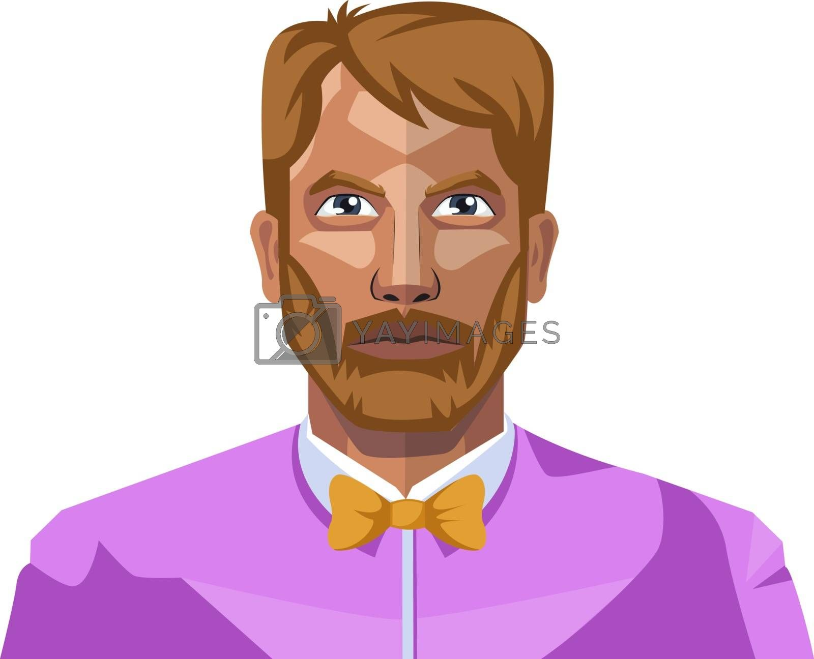 Royalty free image of Full bearded guy illustration vector on white background by Morphart