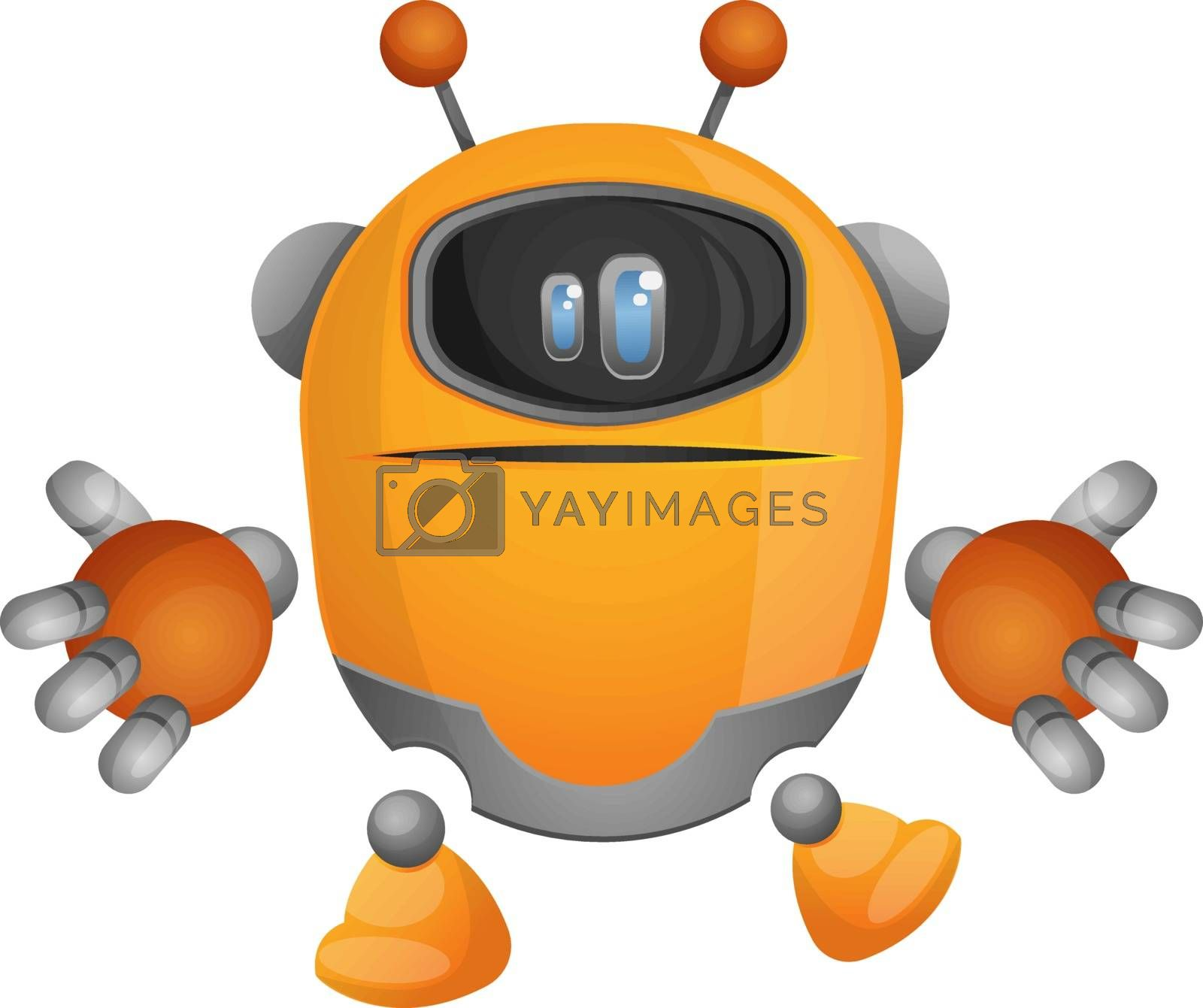 Royalty free image of Confused cartoon robot illustration vector on white background by Morphart