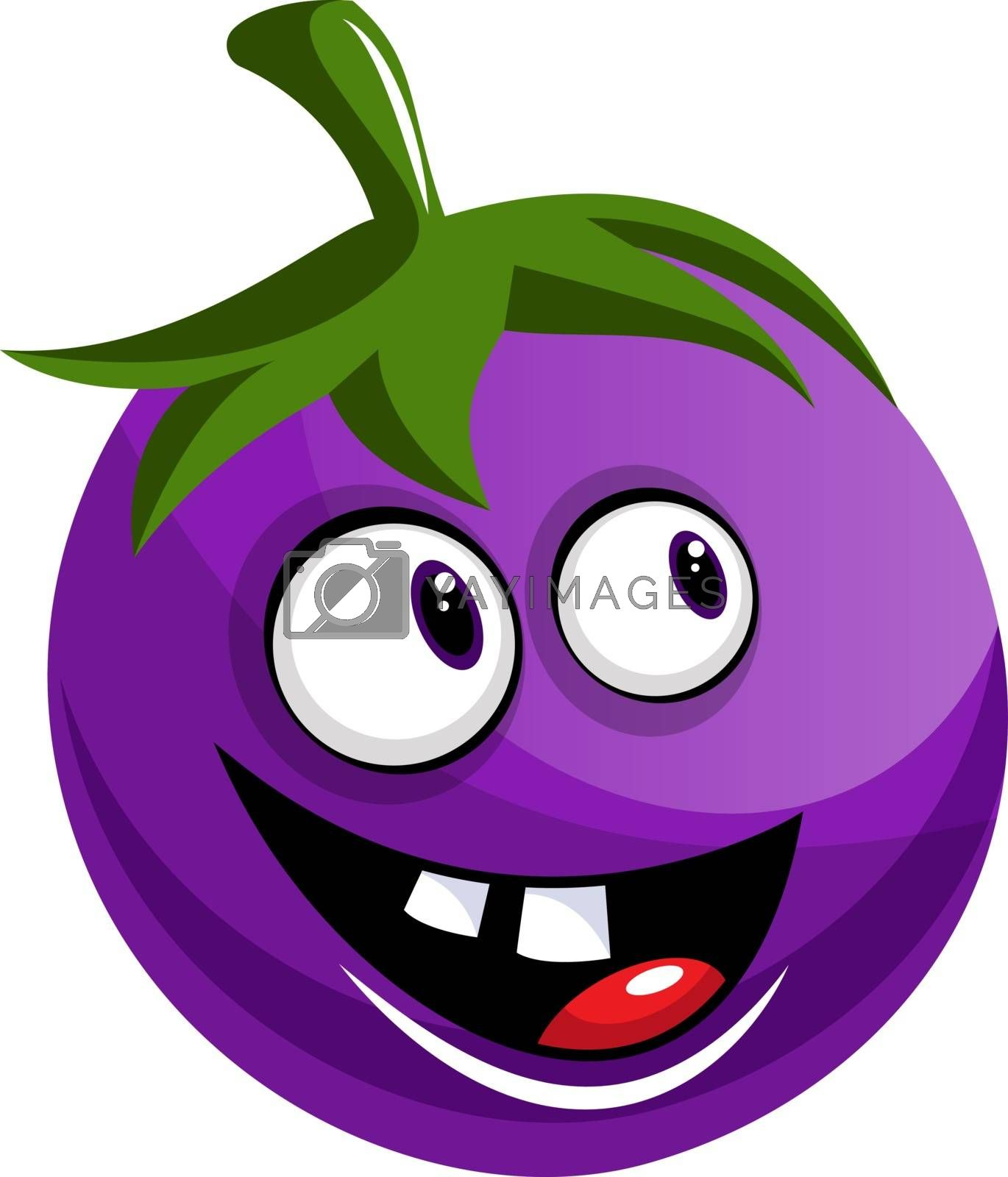 Royalty free image of Cheerful brinjal illustration vector on white background by Morphart