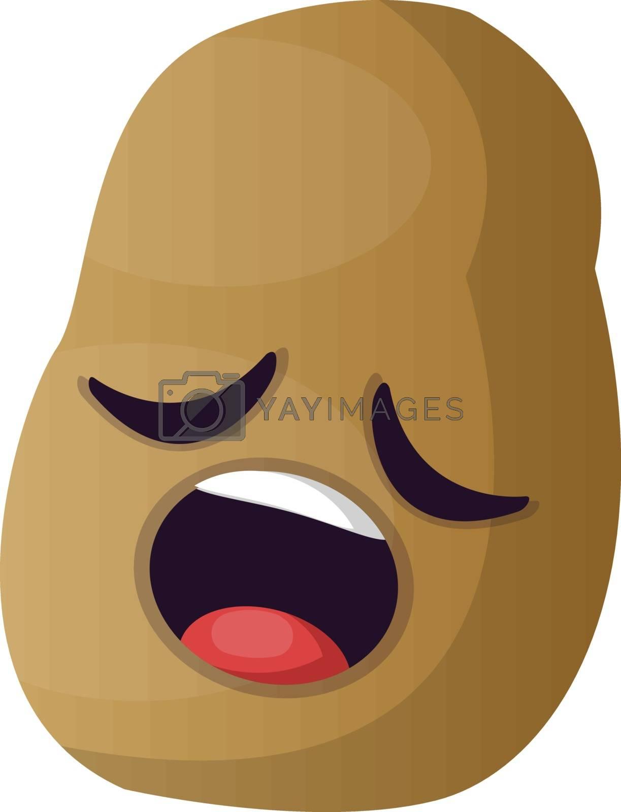 Royalty free image of Sleepy little potato illustration vector on white background by Morphart