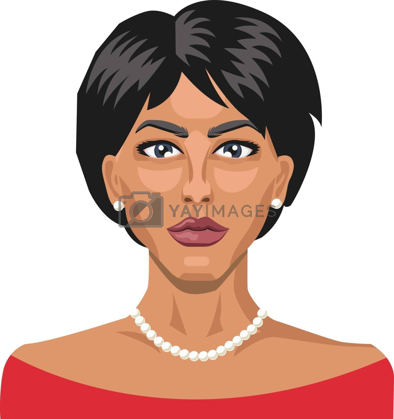 Royalty free image of Pretty lady with short hair illustration vector on white backgro by Morphart