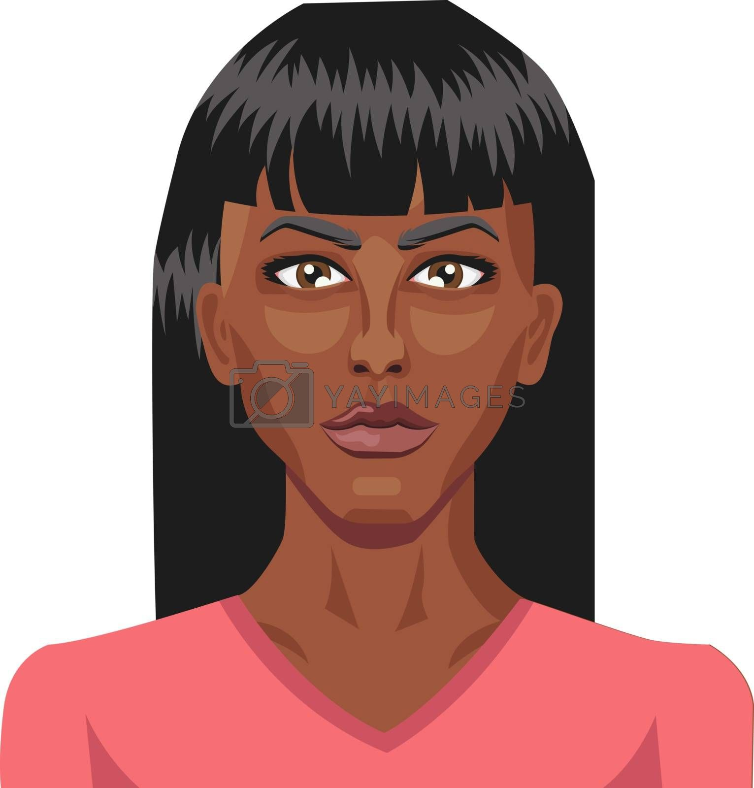 Royalty free image of Beautiful african girl illustration vector on white background by Morphart