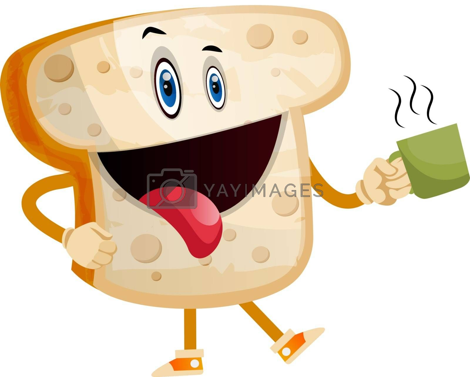 Royalty free image of Hot Bread illustration vector on white background by Morphart