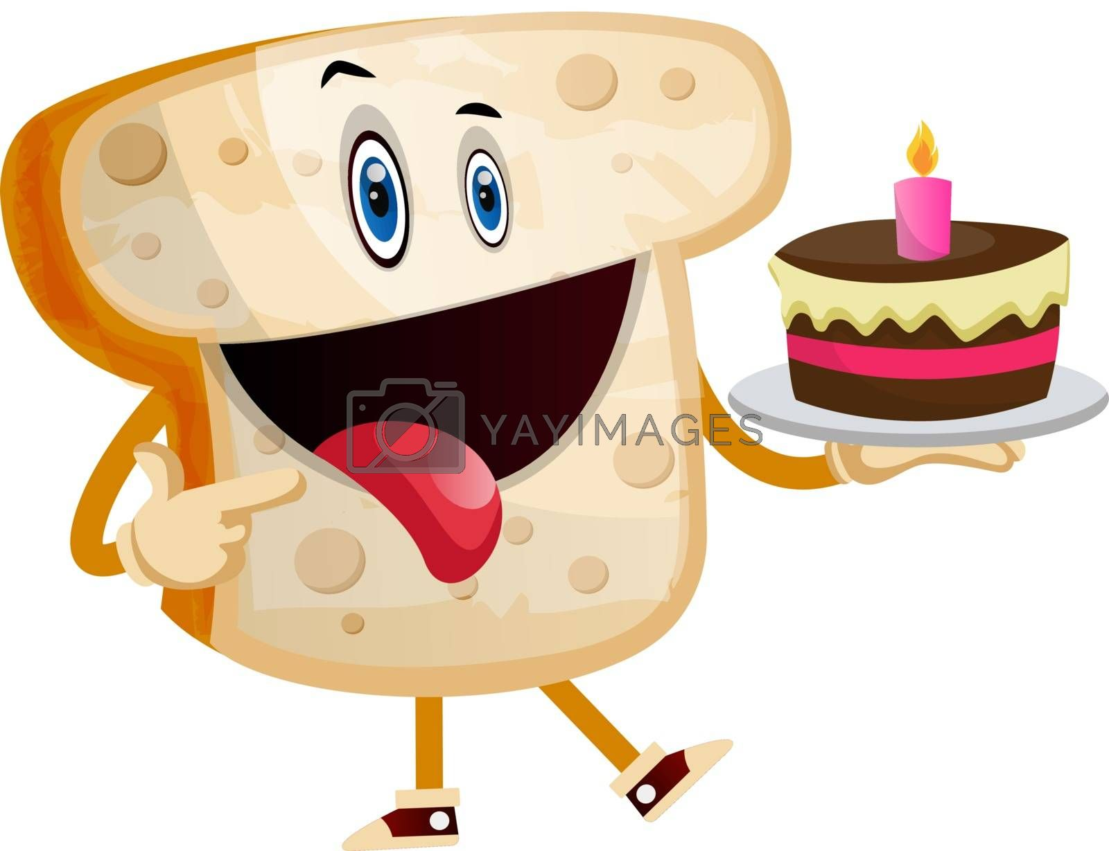 Royalty free image of Sweet Toast illustration vector on white background by Morphart