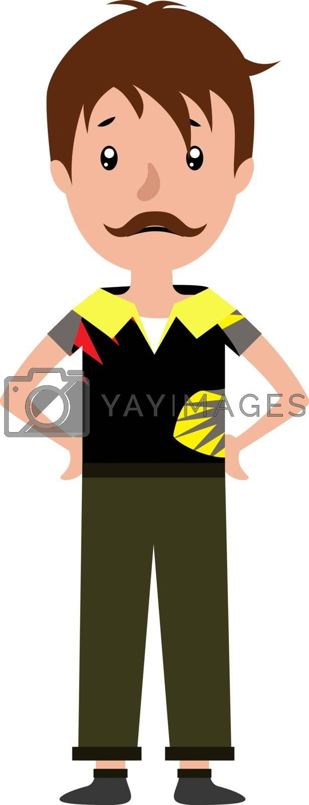 Royalty free image of Cartoon man looking worried illustration vector on white backgro by Morphart