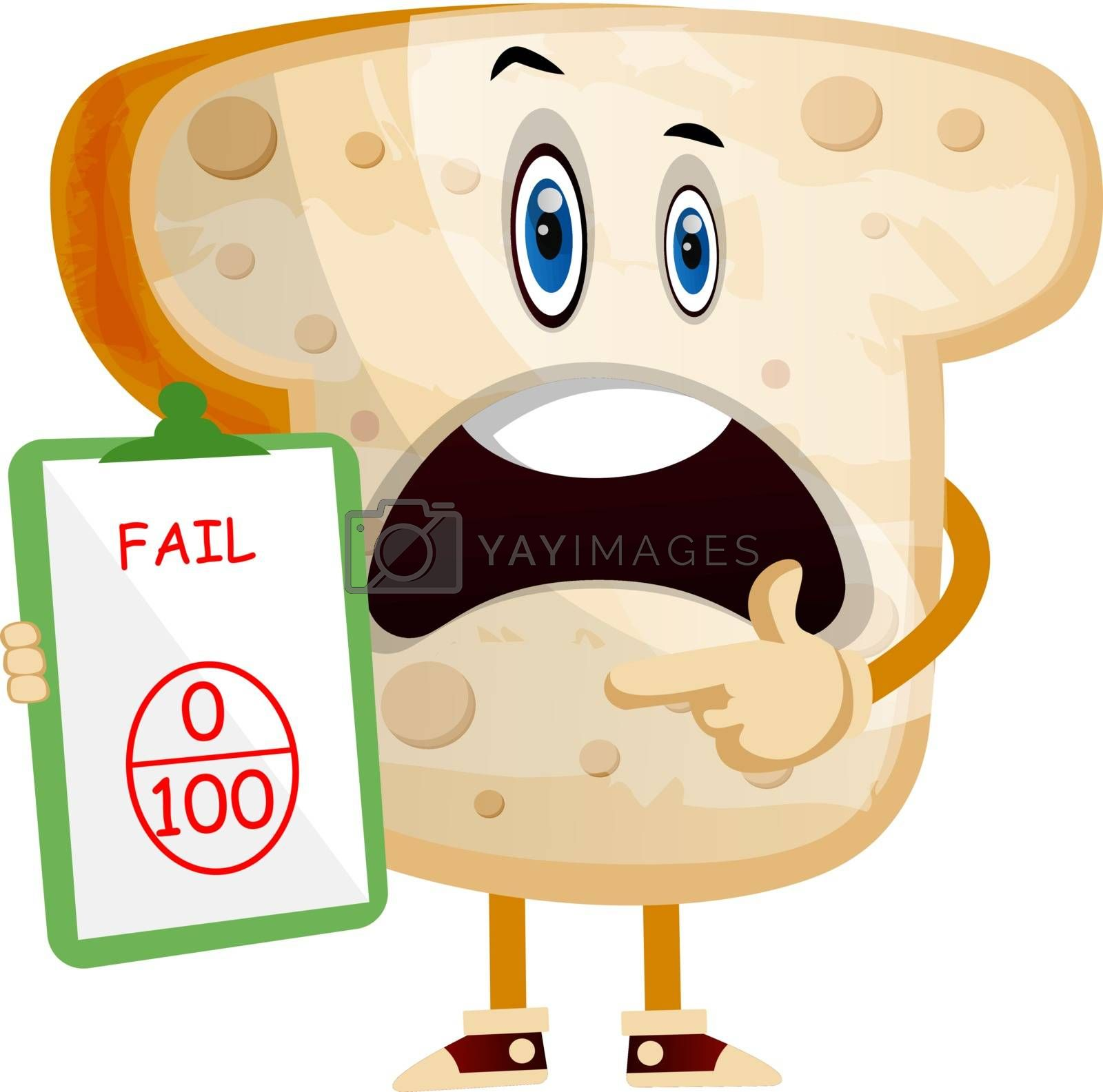 Royalty free image of Bad Bread illustration vector on white background by Morphart