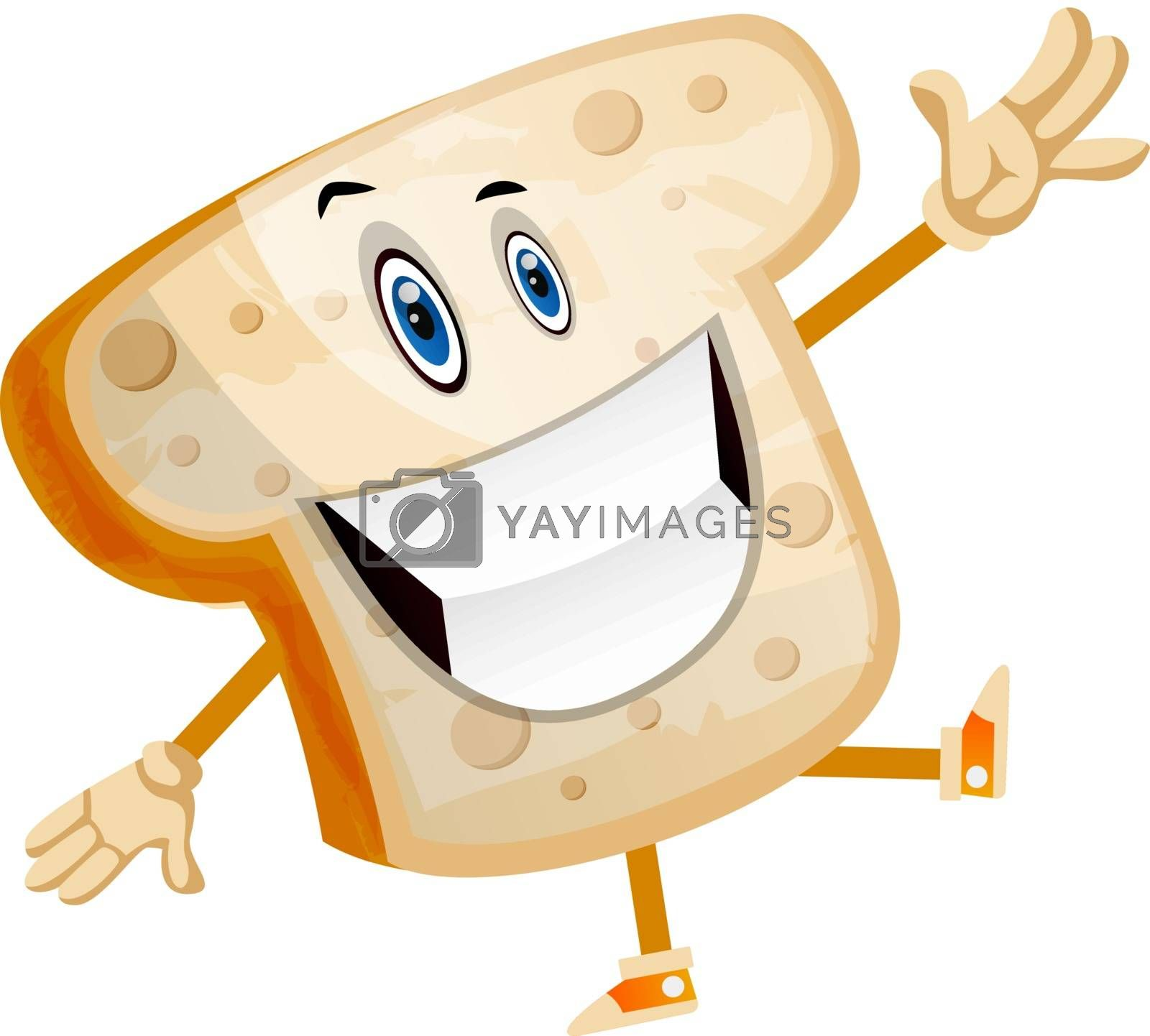 Royalty free image of Smiling Bread illustration vector on white background by Morphart