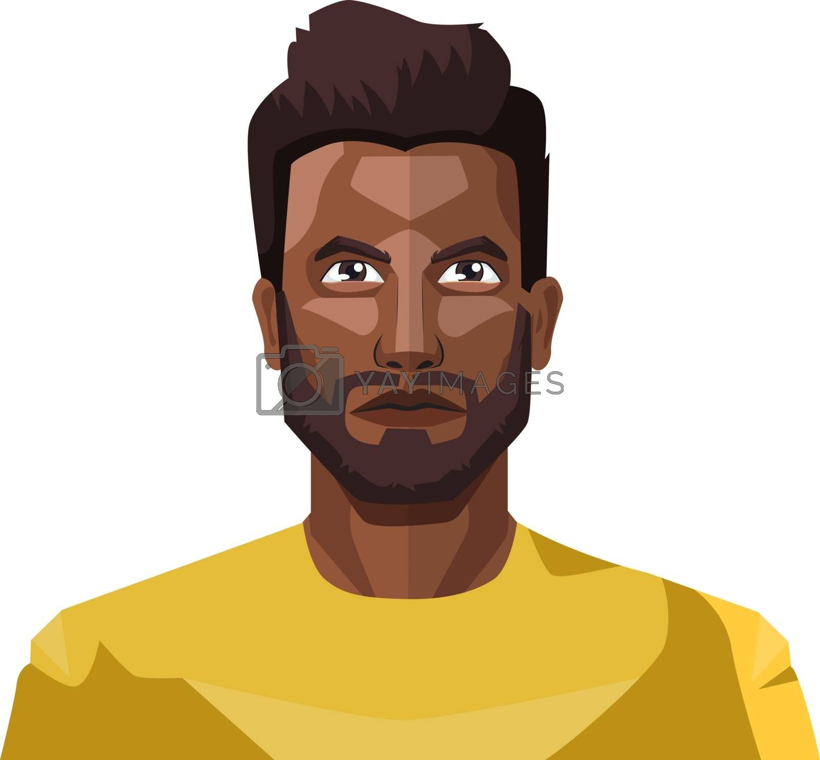 Royalty free image of Handsome guy with beard and short hair illustration vector on wh by Morphart