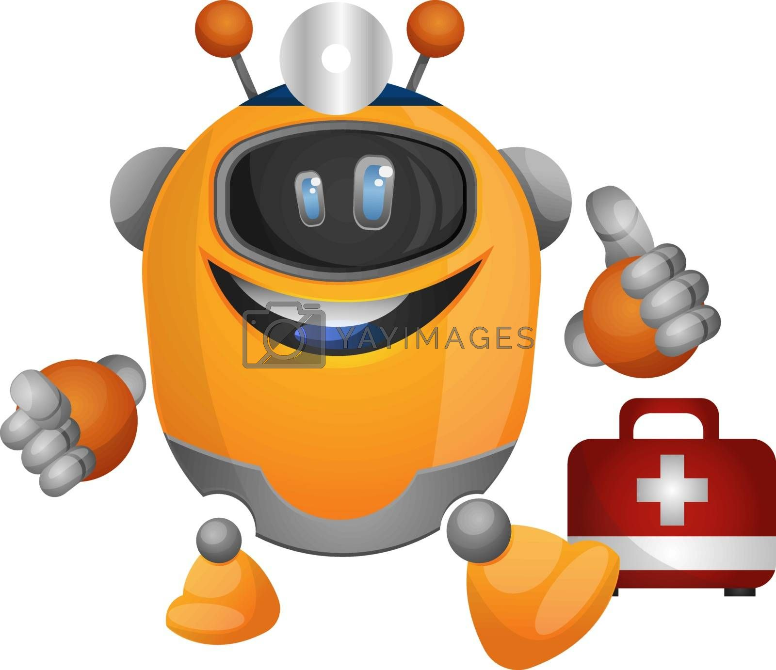 Royalty free image of Robotic doctor illustration vector on white background by Morphart