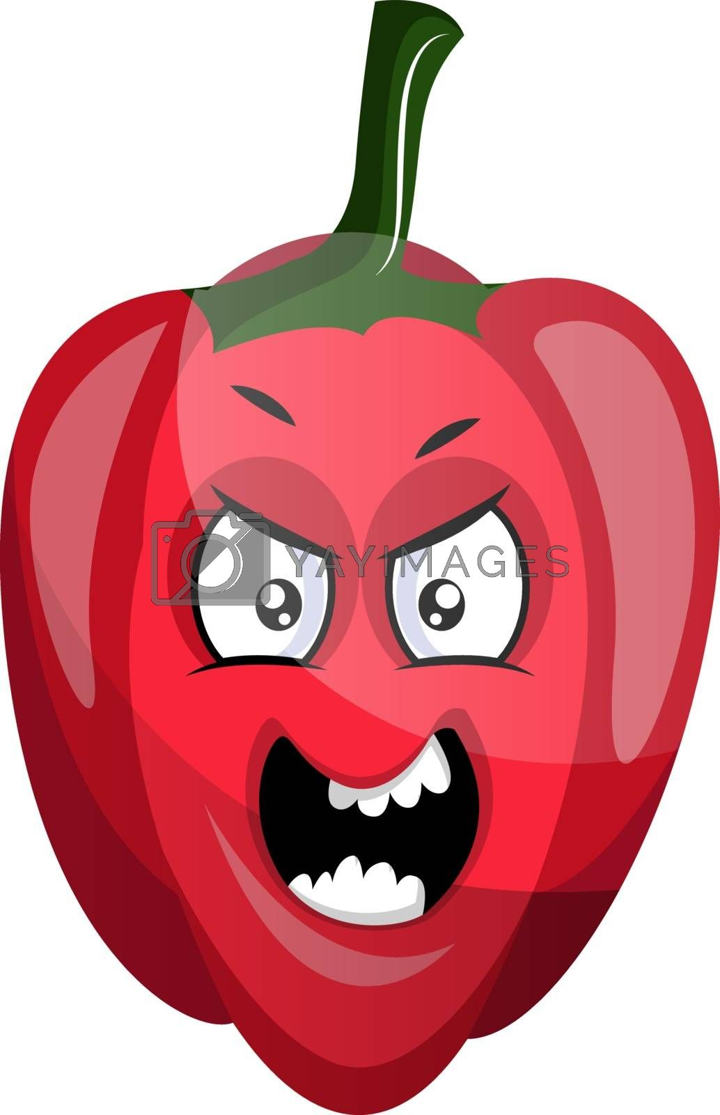 Royalty free image of Angry capsicum illustration vector on white background by Morphart