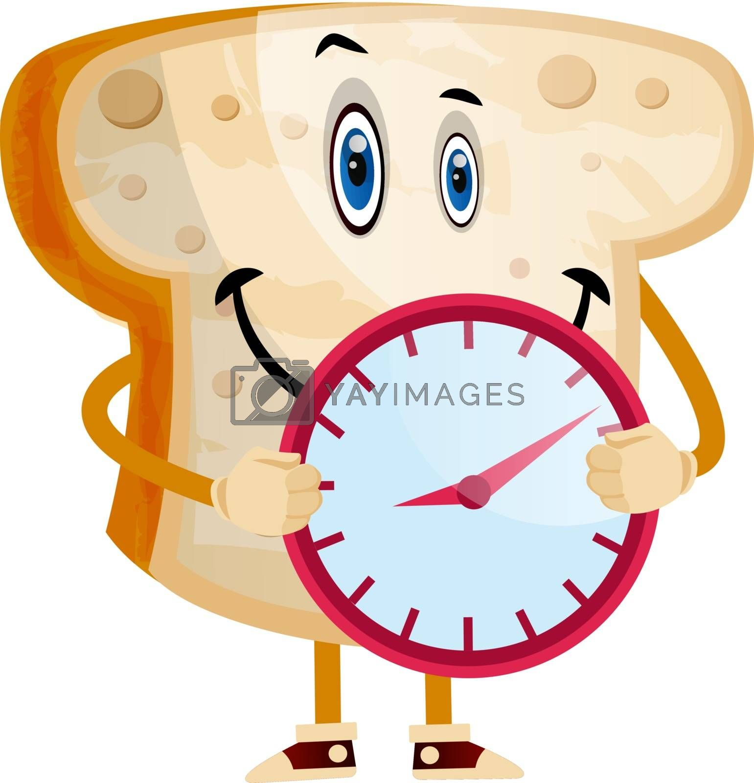Royalty free image of Time Bread illustration vector on white background by Morphart