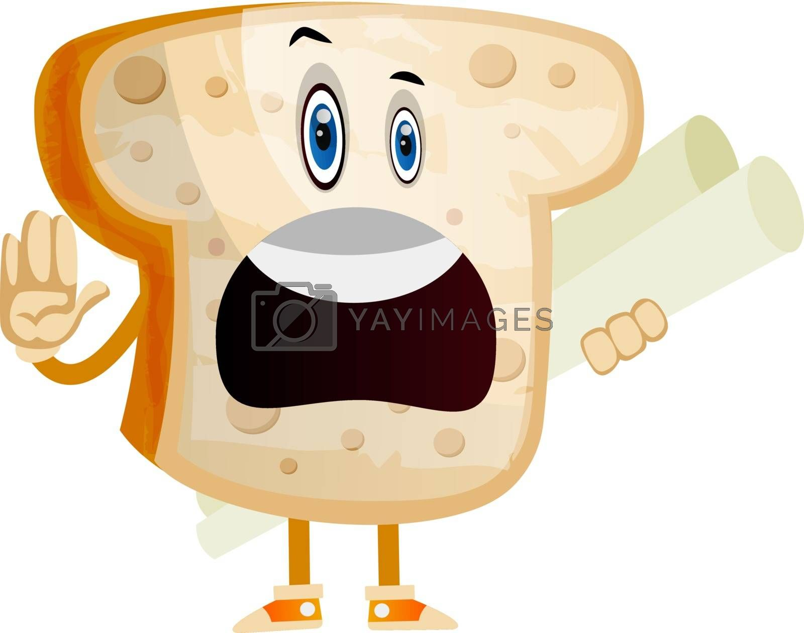 Royalty free image of Employed bread illustration vector on white background by Morphart
