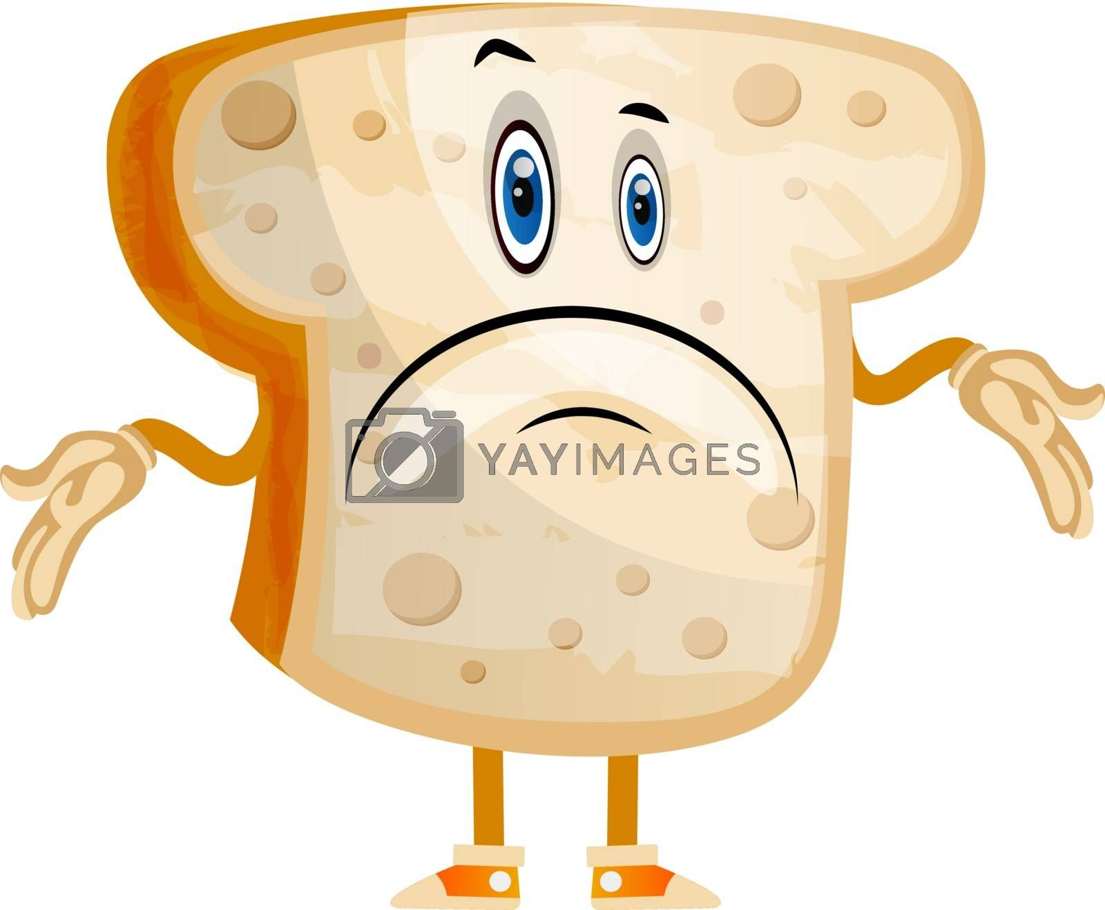 Royalty free image of Meh Bread illustration vector on white background by Morphart