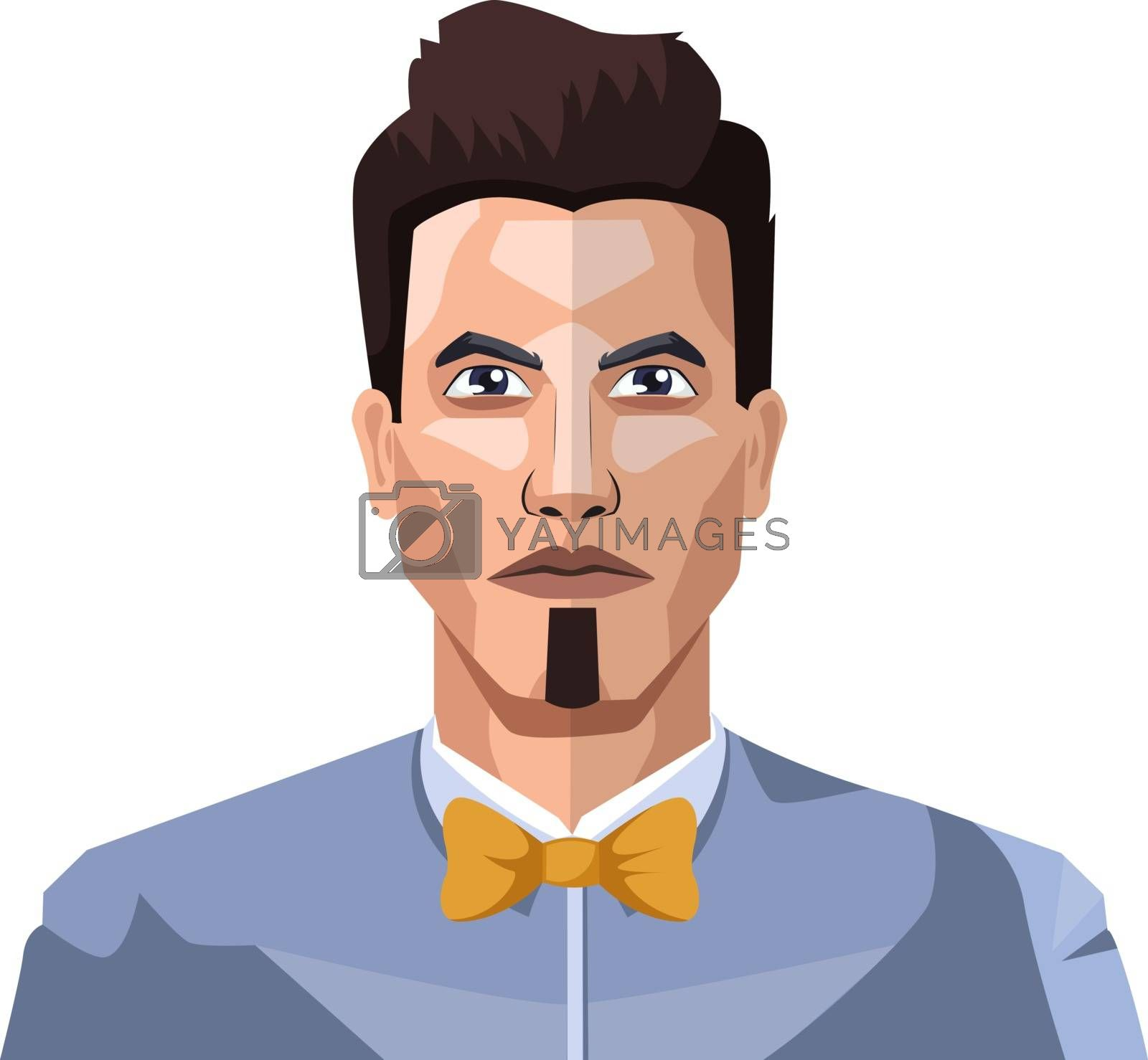 Royalty free image of Guy with short hair and small beard illustration vector on white by Morphart